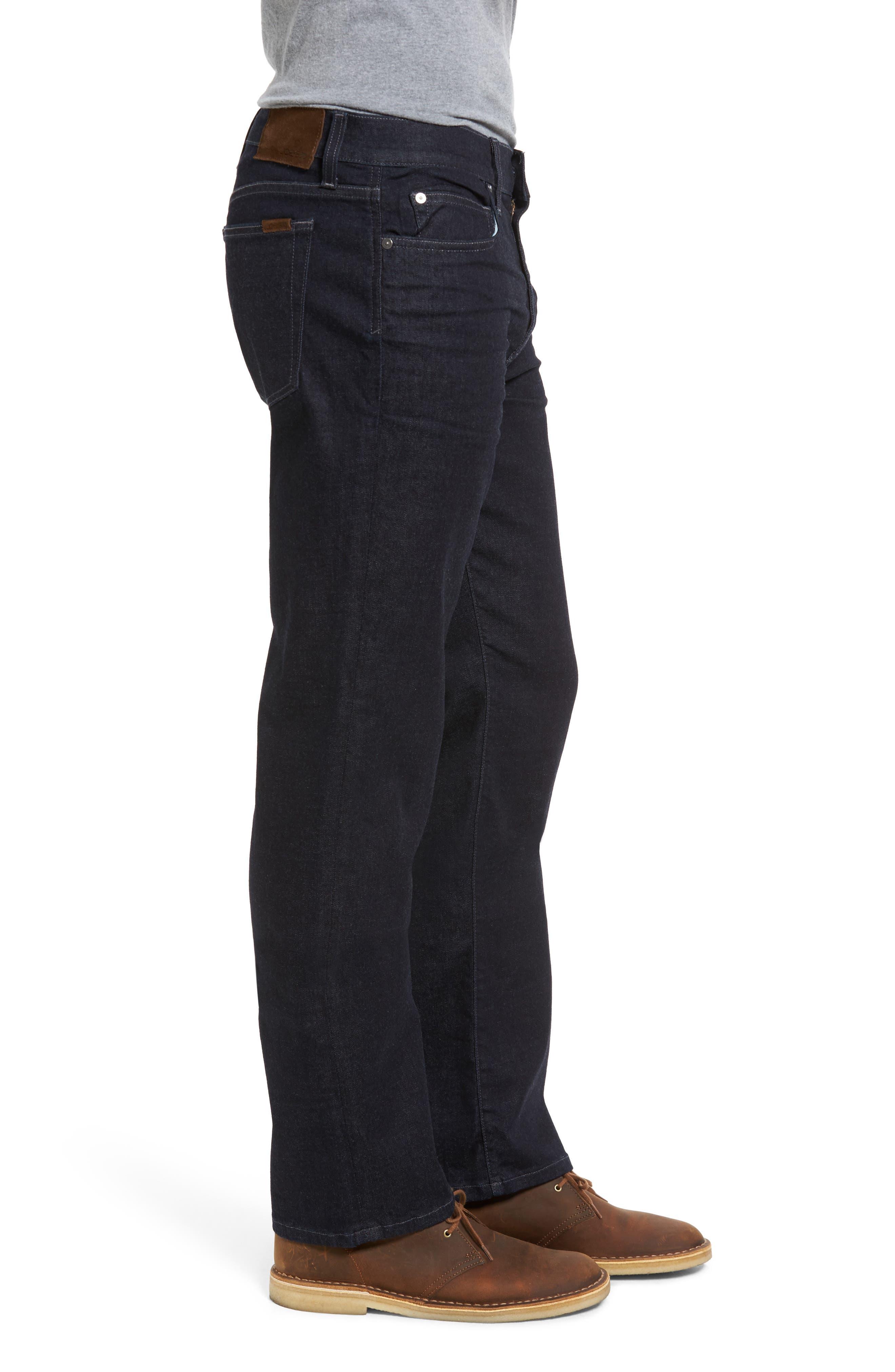 Classic Straight Leg Jeans,                             Alternate thumbnail 3, color,                             400