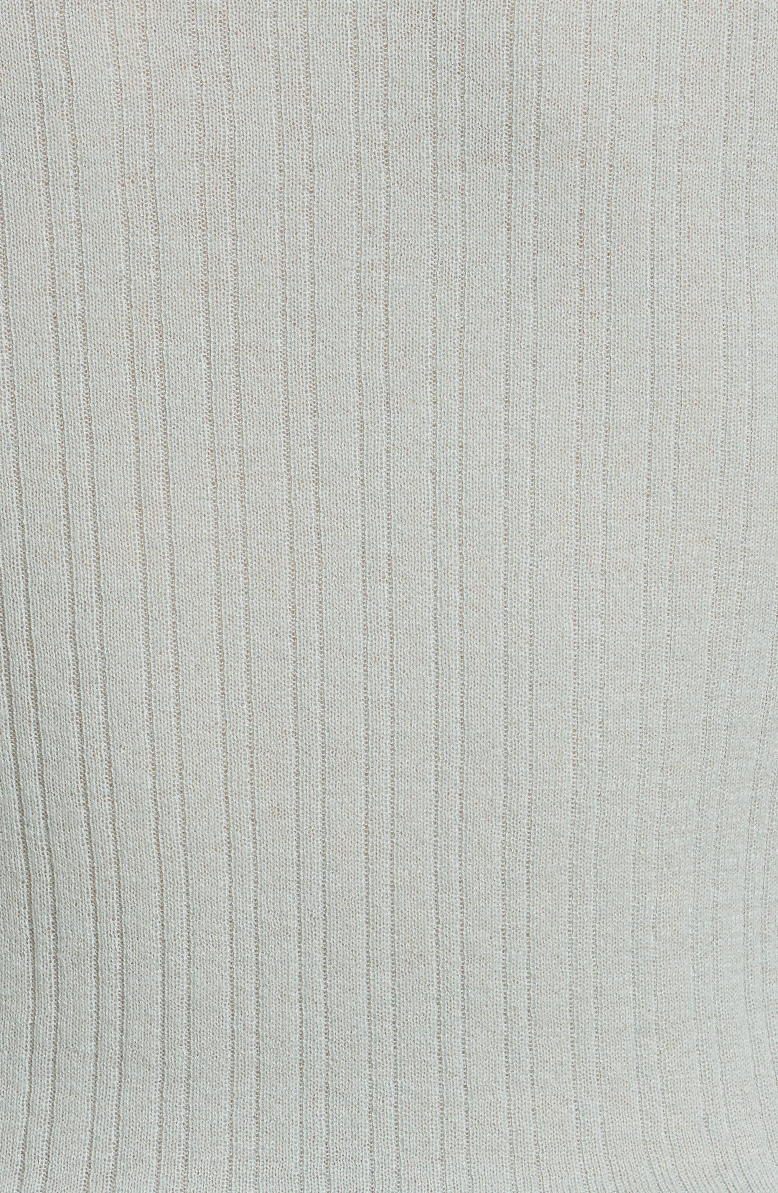 Ribbed Cashmere V-Neck Sweater,                             Alternate thumbnail 15, color,