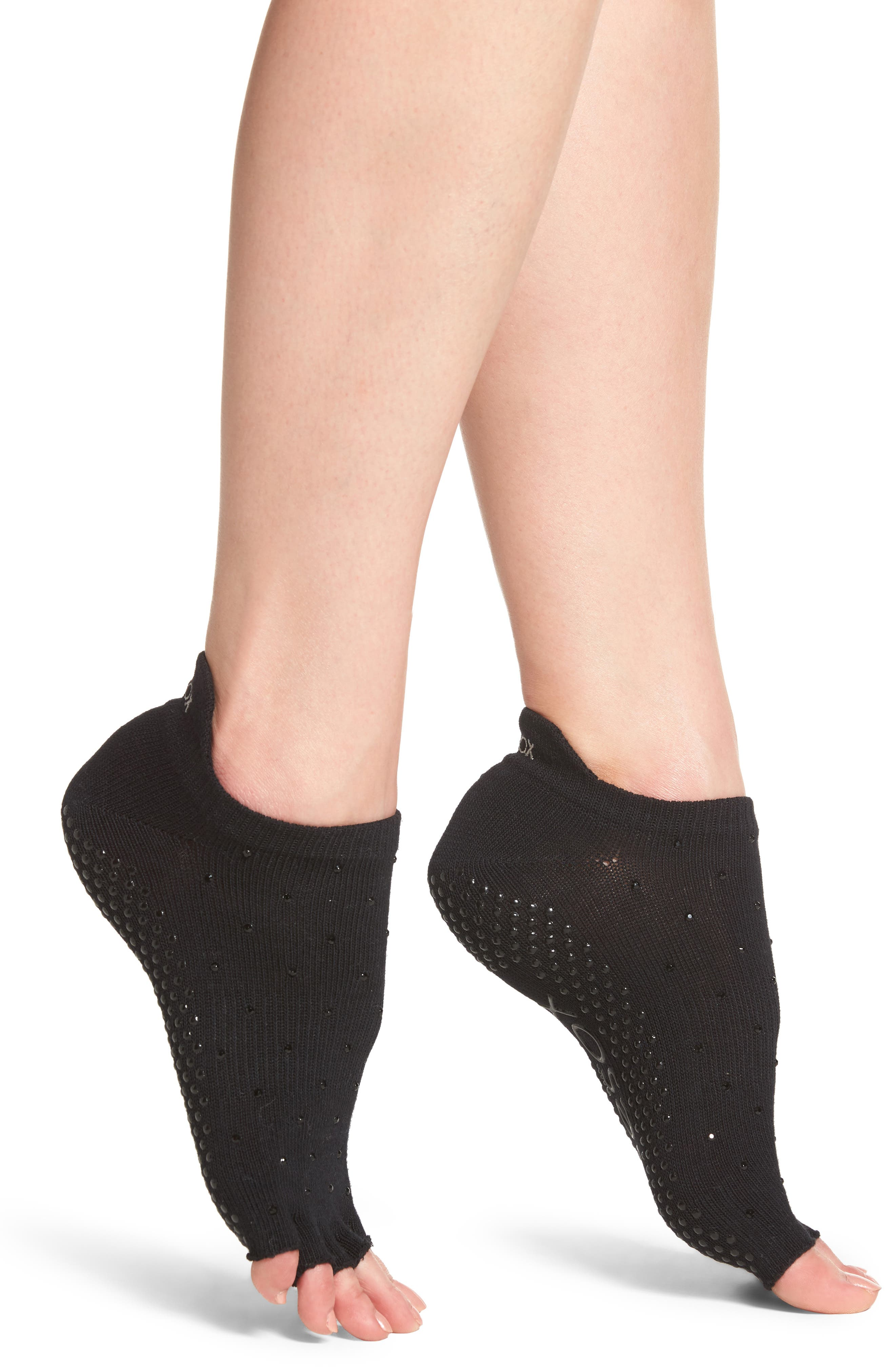 Half Toe Low Rise Grip Socks,                             Main thumbnail 1, color,                             001
