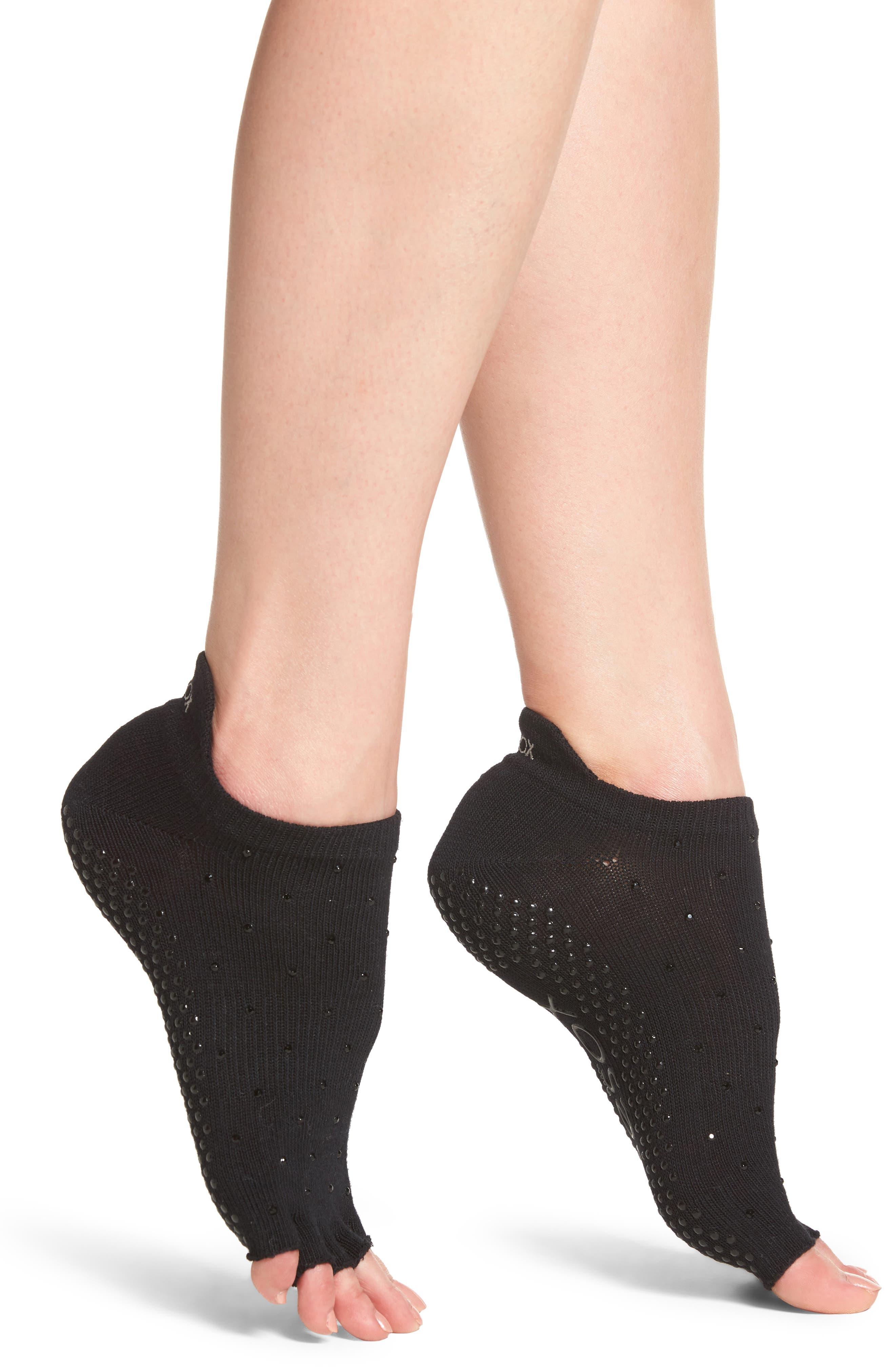 Half Toe Low Rise Grip Socks,                         Main,                         color, 001