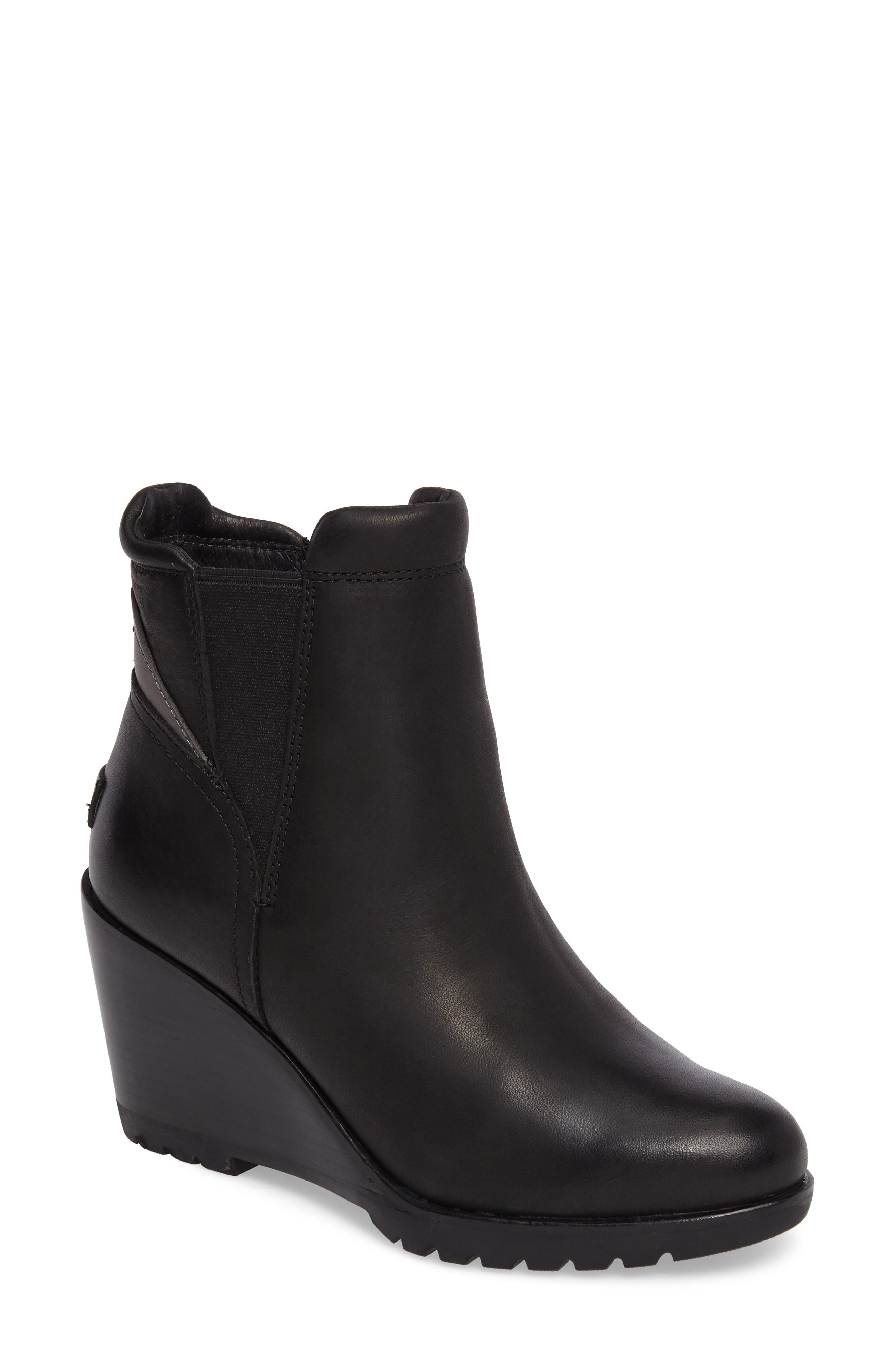 After Hours Chelsea Waterproof Boot,                         Main,                         color, BLACK