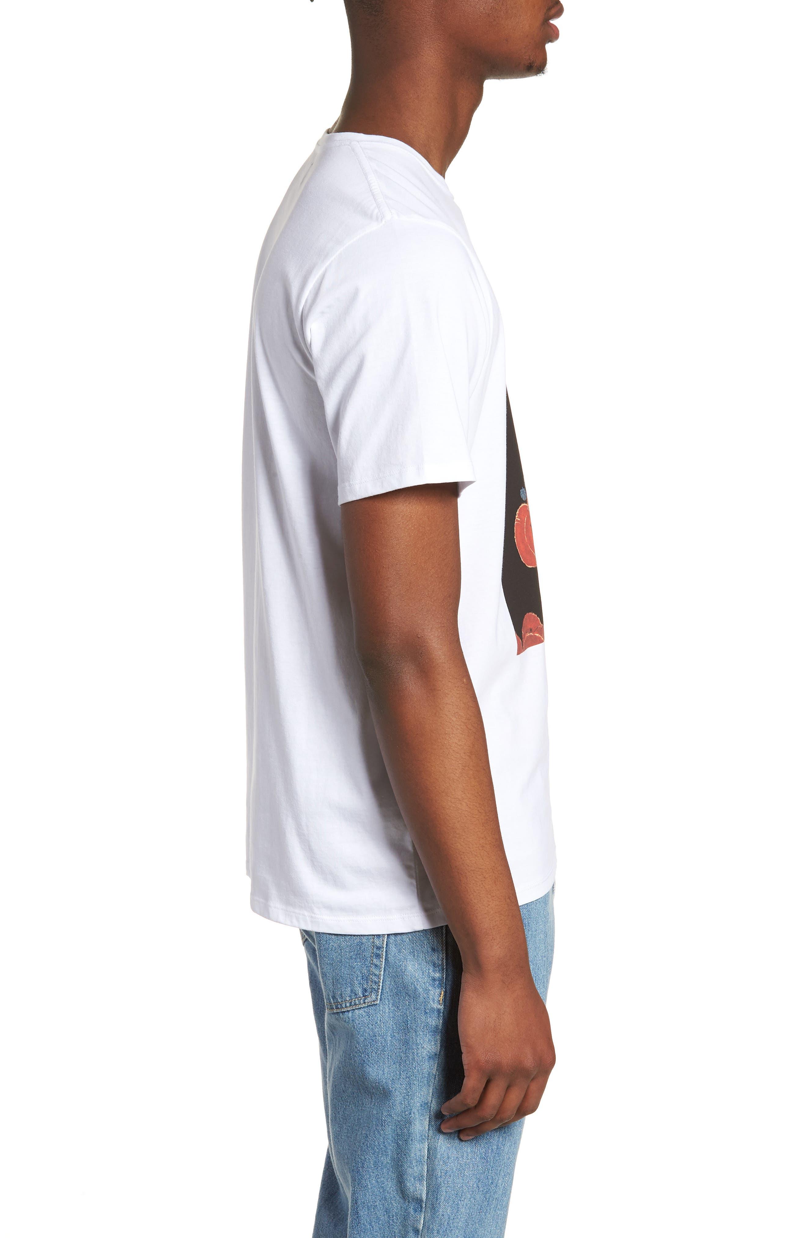 Floater Fill T-Shirt,                             Alternate thumbnail 3, color,                             WHITE