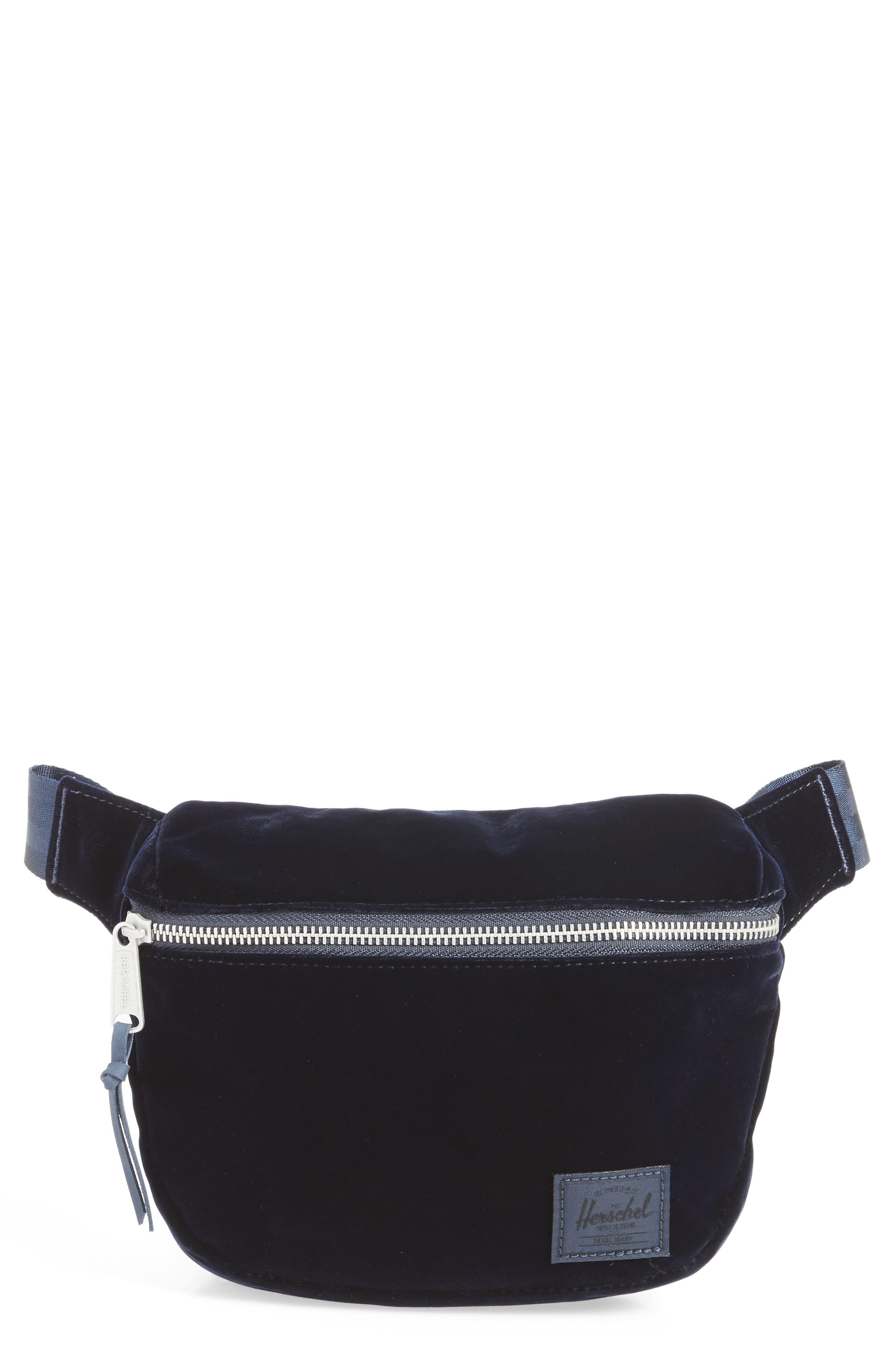 Fifteen Velvet Belt Bag,                             Main thumbnail 1, color,                             400