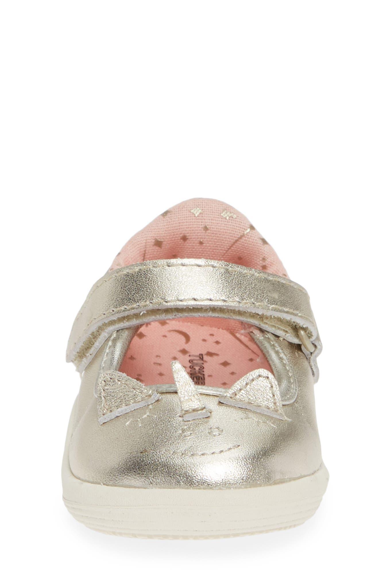 Clara Metallic Shoe,                             Alternate thumbnail 4, color,                             GOLD LEATHER