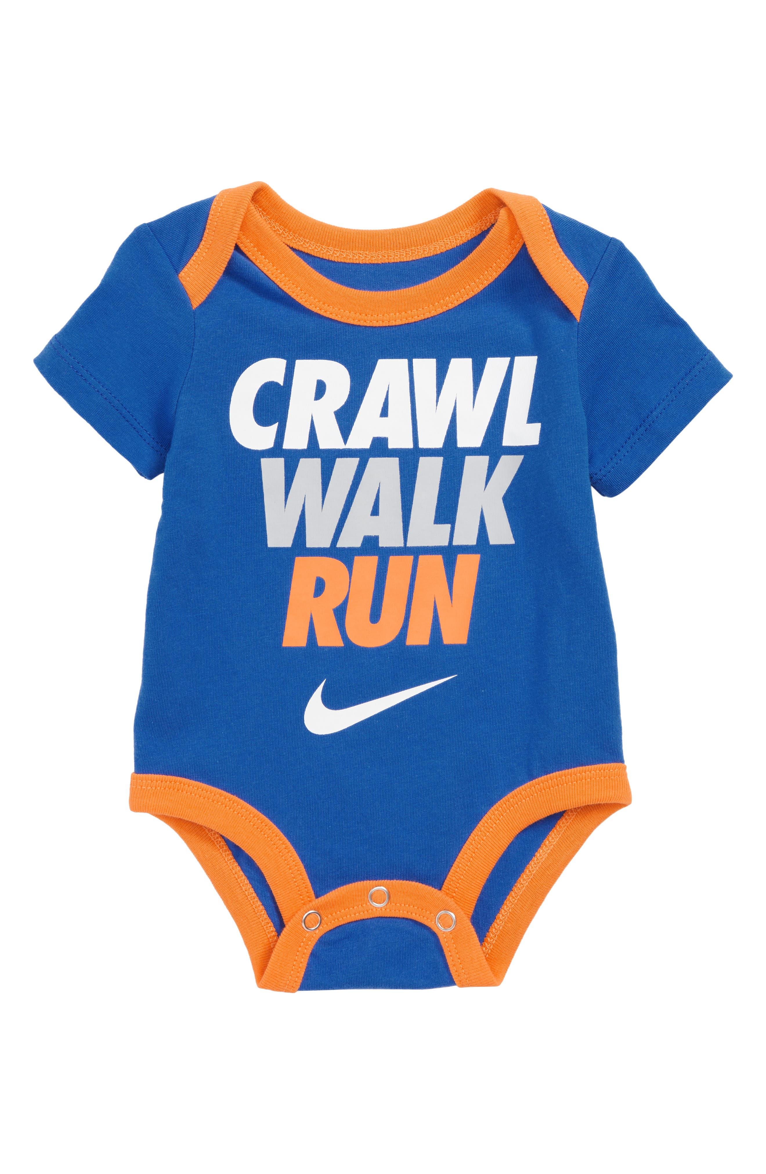 Crawl Walk Run Bodysuit,                             Main thumbnail 1, color,                             422