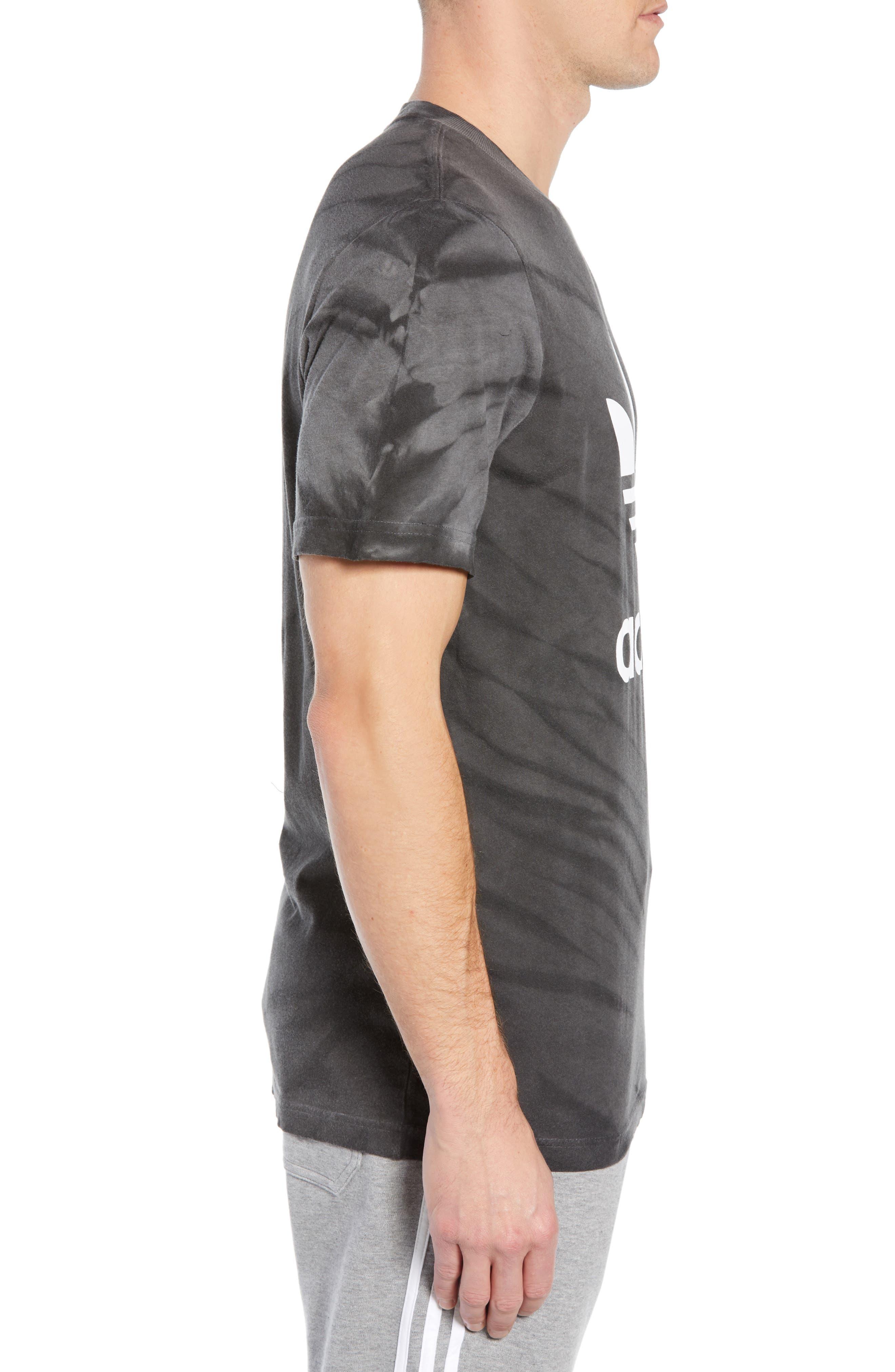 Tie Dye Logo T-Shirt,                             Alternate thumbnail 3, color,                             BLACK
