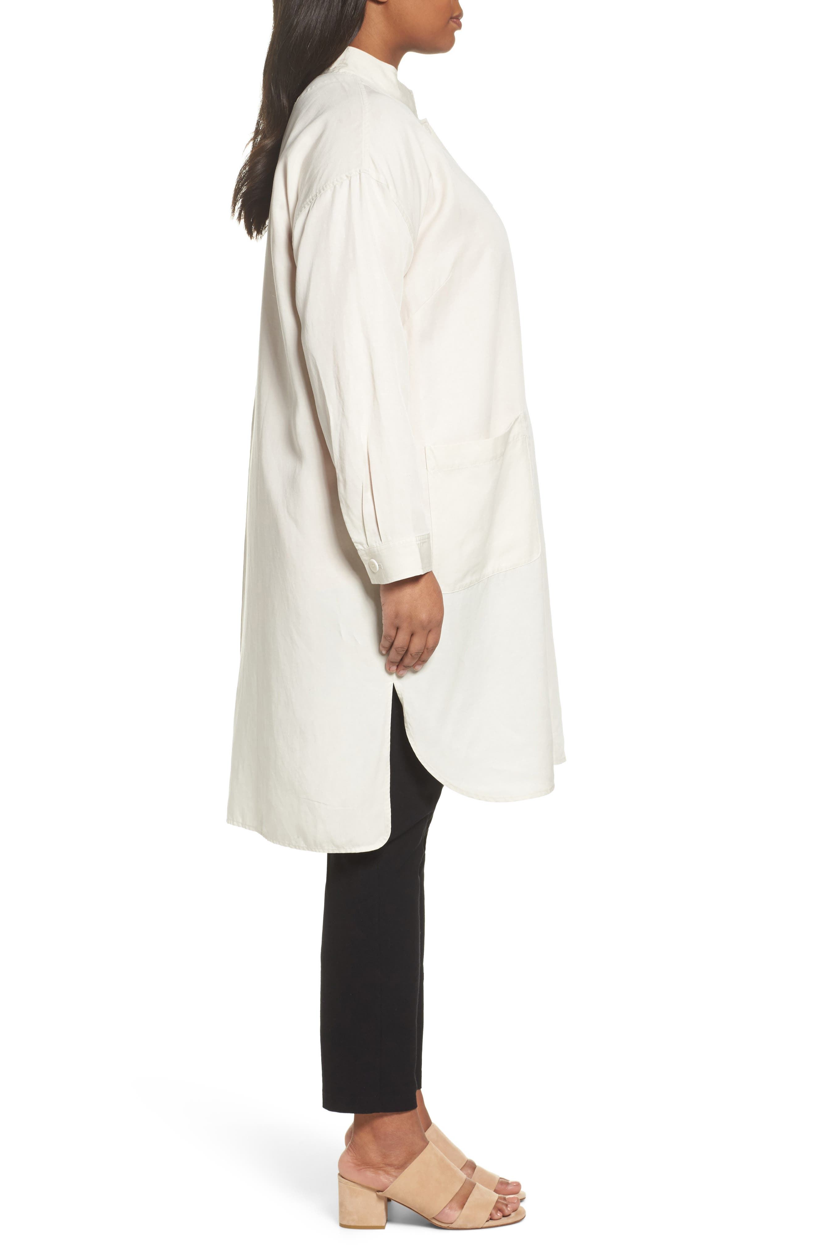 Long Tencel<sup>®</sup> Lyocell & Linen Jacket,                             Alternate thumbnail 6, color,