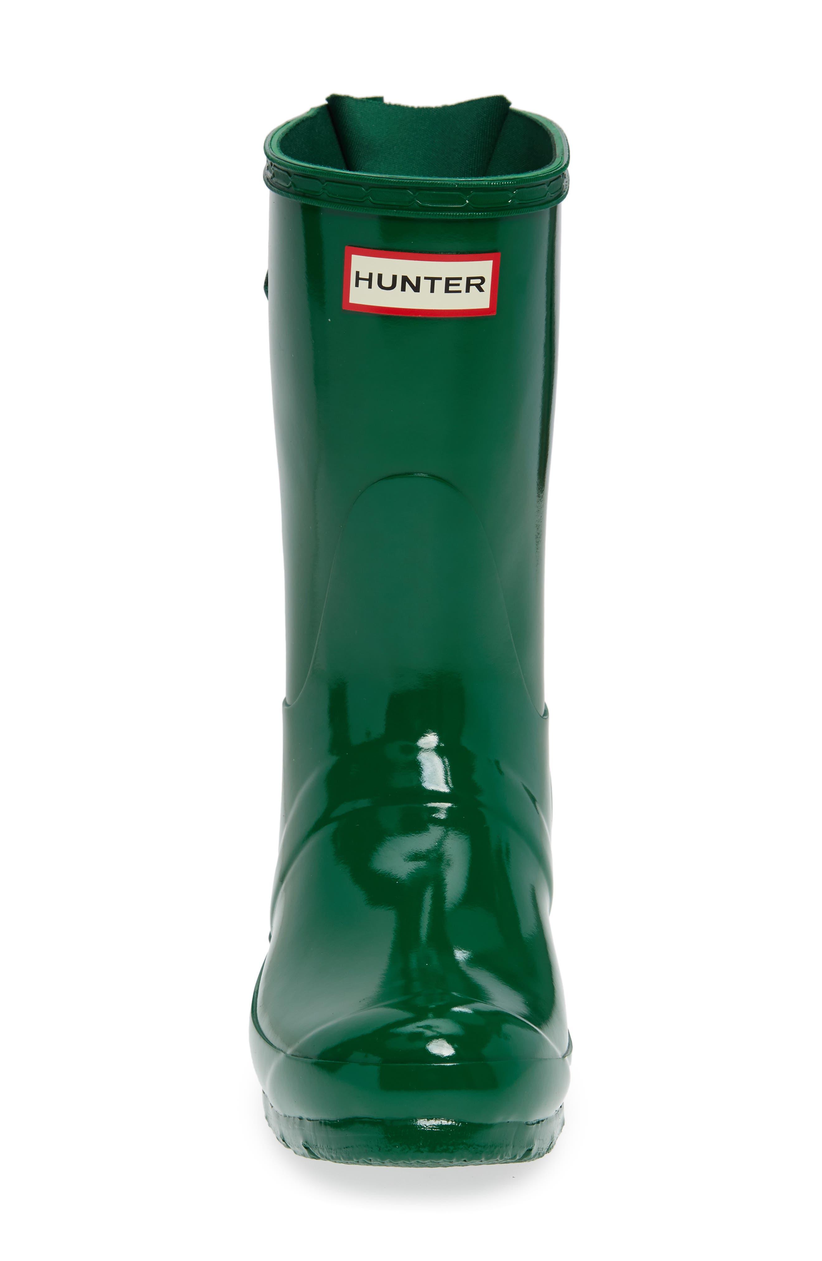Original Short Adjustable Back Gloss Rain Boot,                             Alternate thumbnail 4, color,                             HYPER GREEN