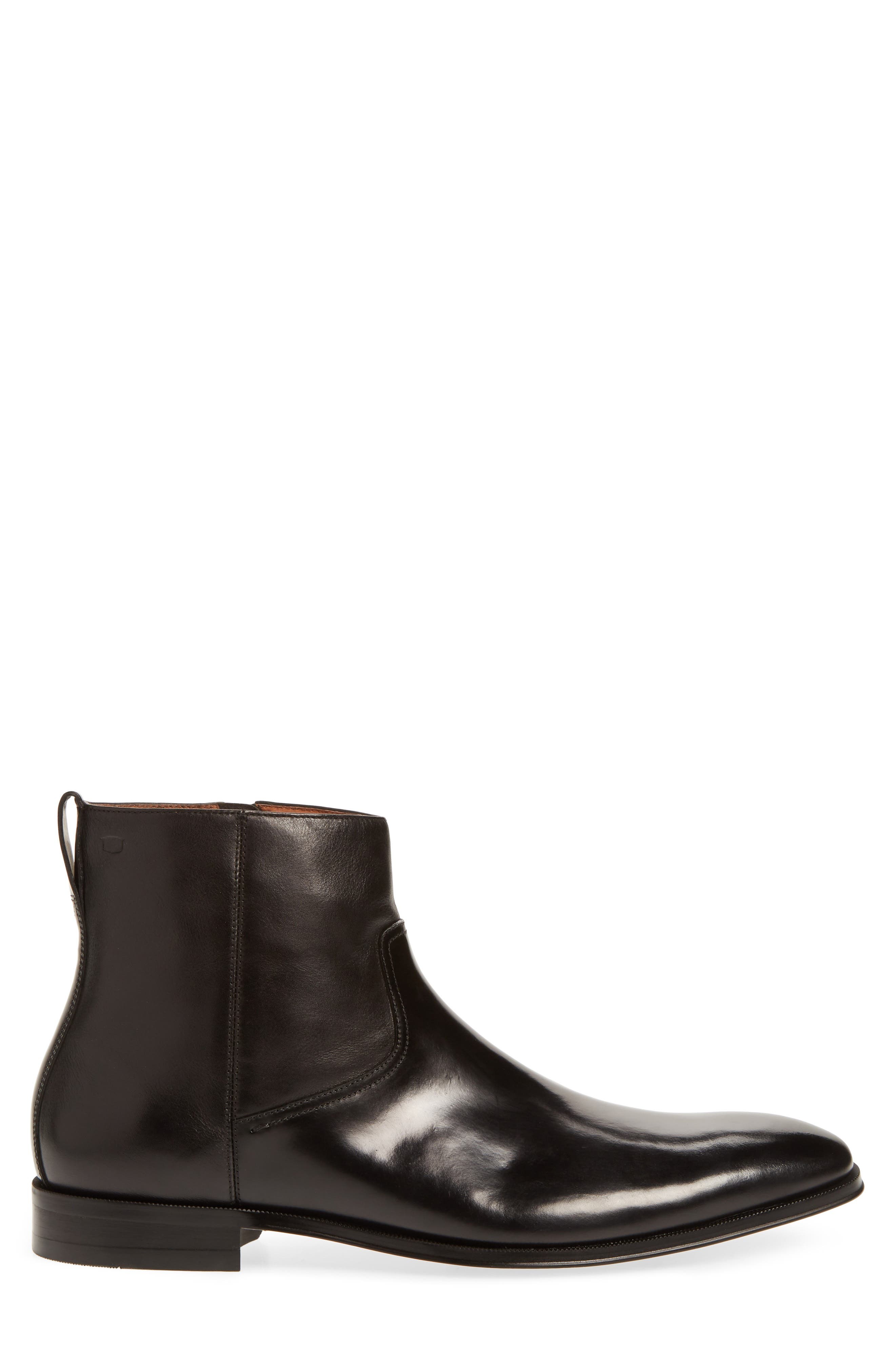 Belfast Mid Zip Boot,                             Alternate thumbnail 3, color,                             BLACK LEATHER