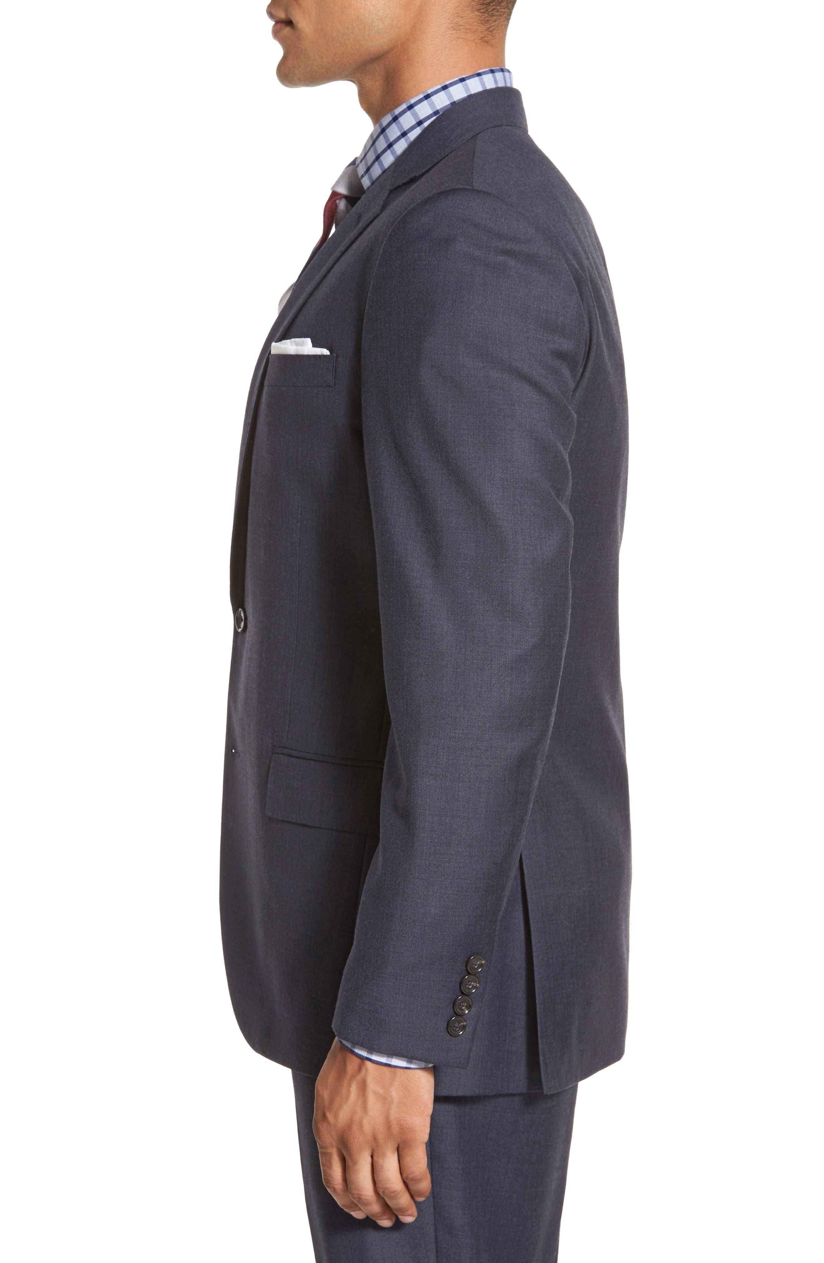 Ludlow Trim Fit Solid Wool Sport Coat,                             Alternate thumbnail 6, color,