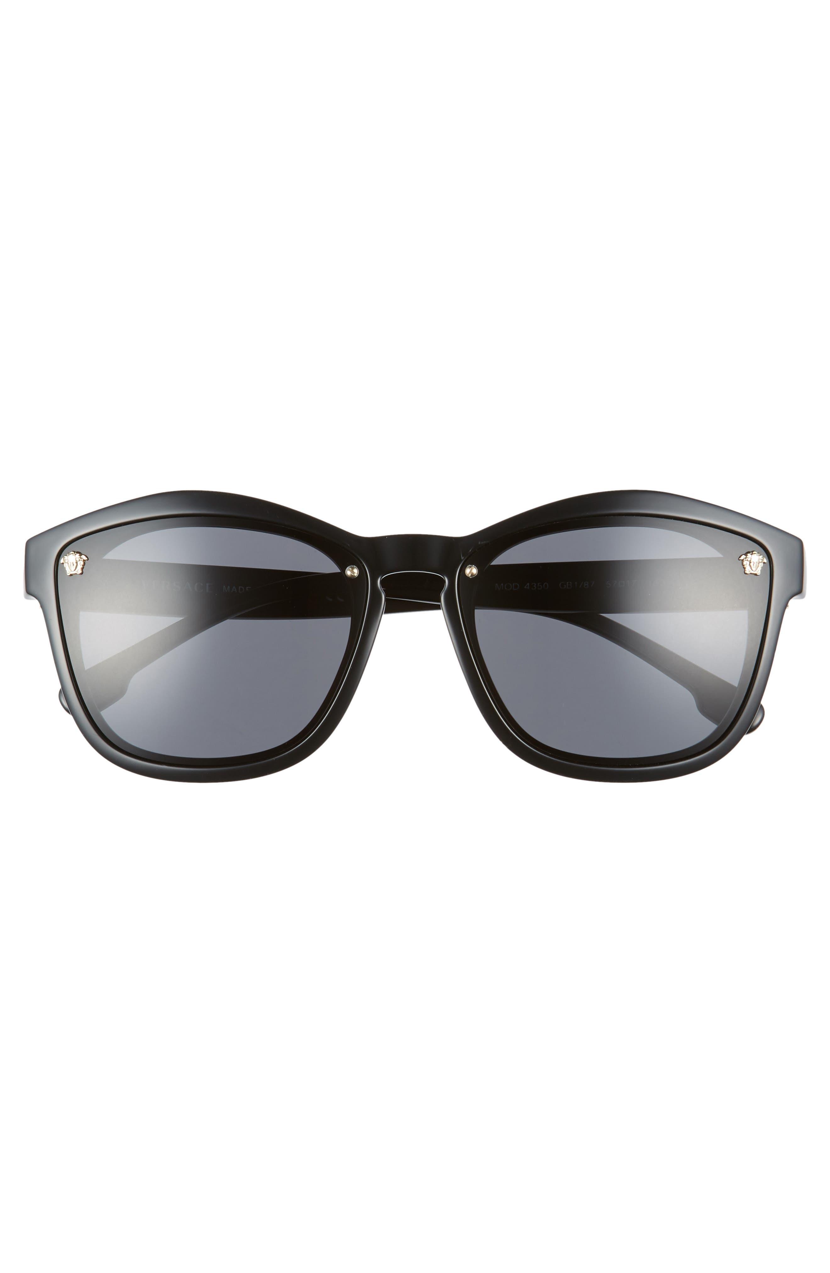 Medusa 57mm Square Sunglasses,                             Alternate thumbnail 3, color,                             001
