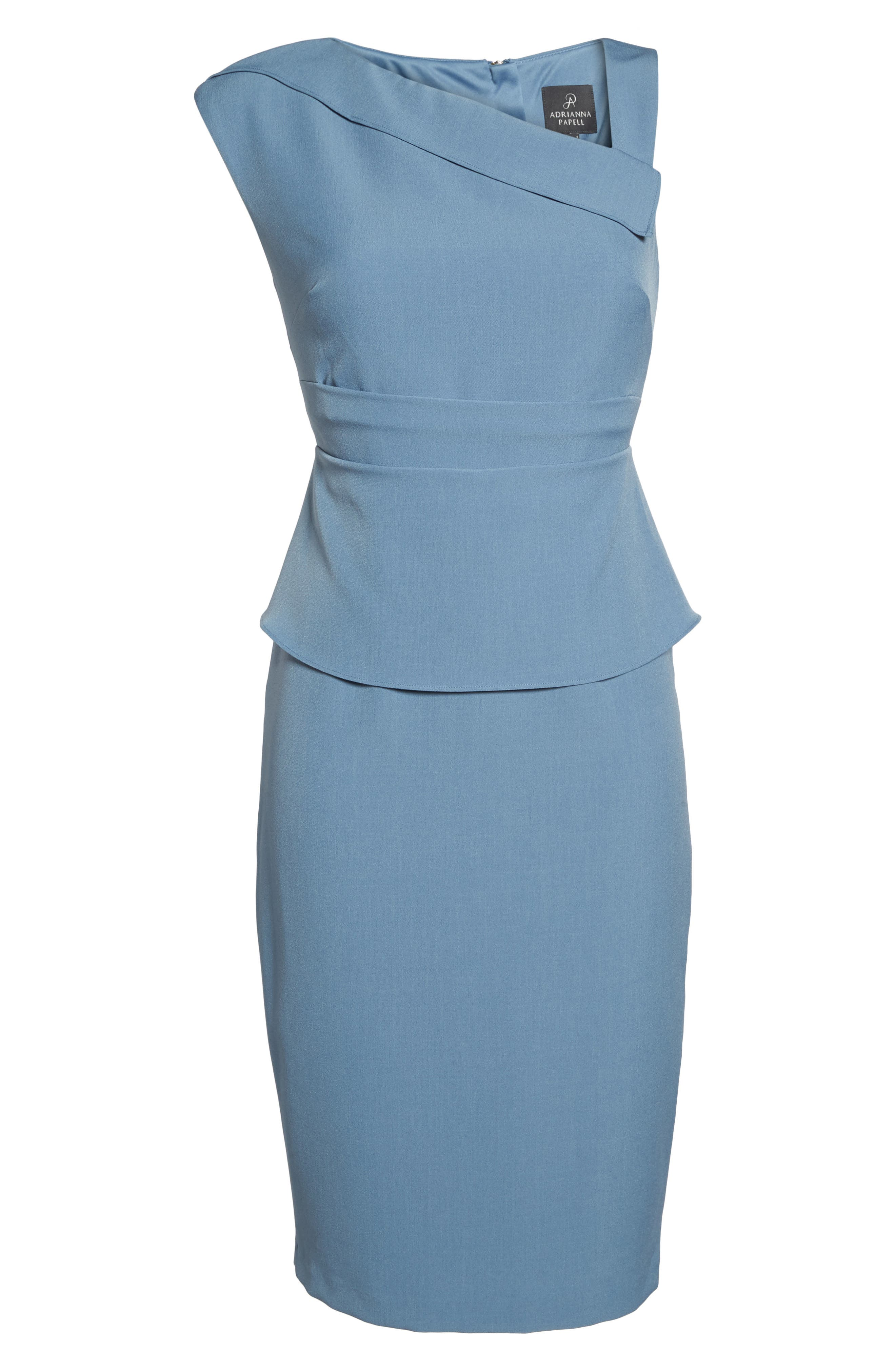 Crepe Sheath Dress,                             Alternate thumbnail 12, color,
