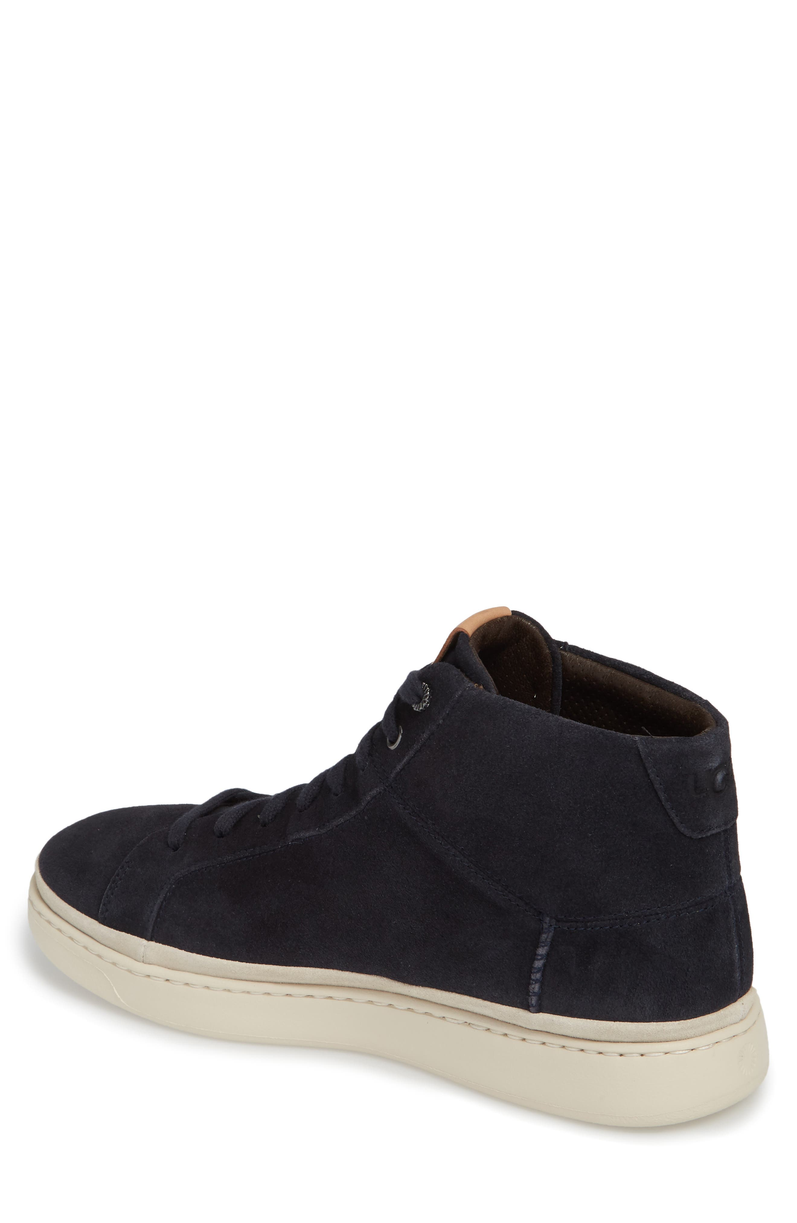 Cali High Top Sneaker,                             Alternate thumbnail 2, color,                             NAVY LEATHER