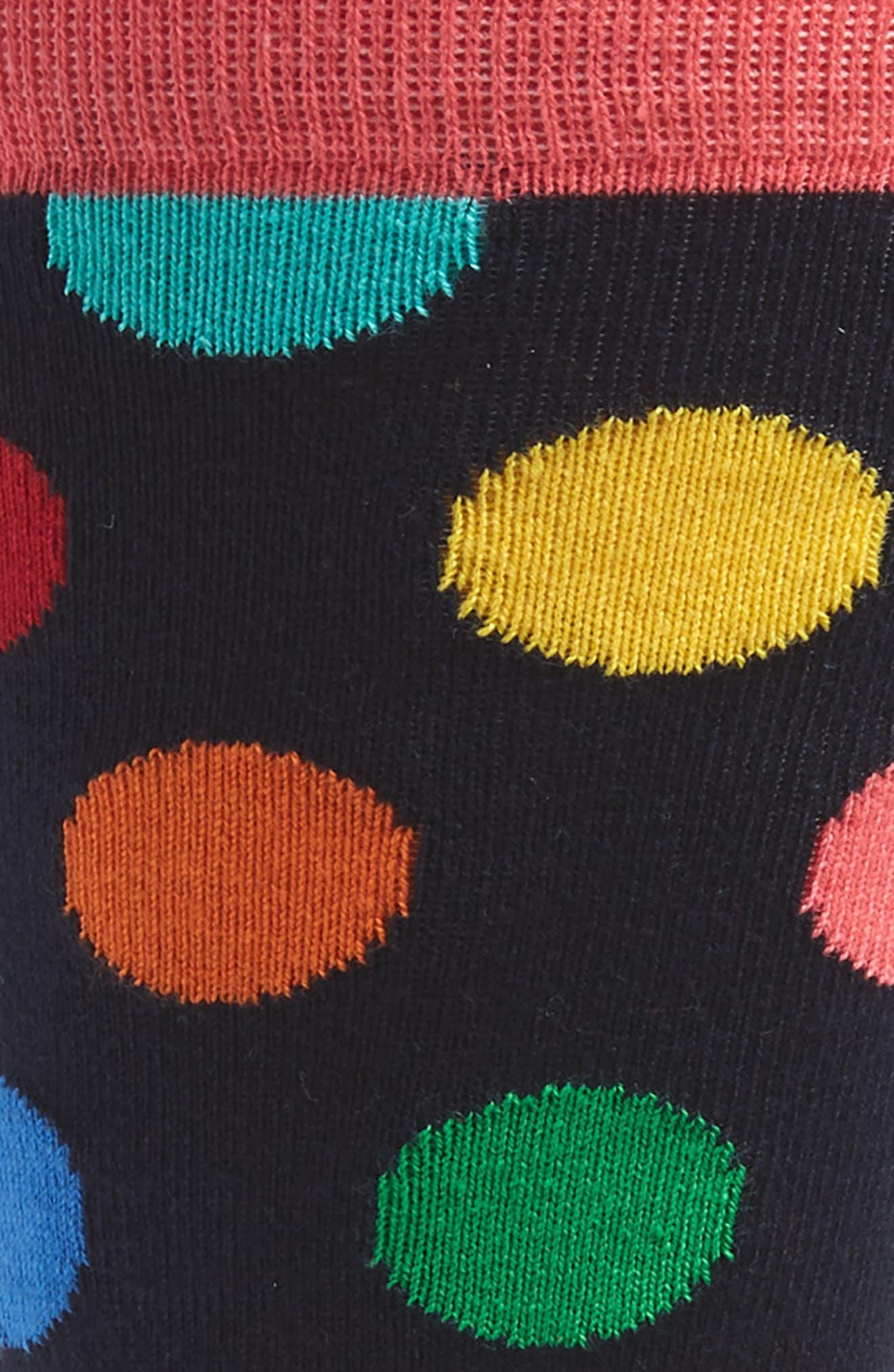 Big Dots Socks,                             Alternate thumbnail 2, color,                             BLUE MULTI