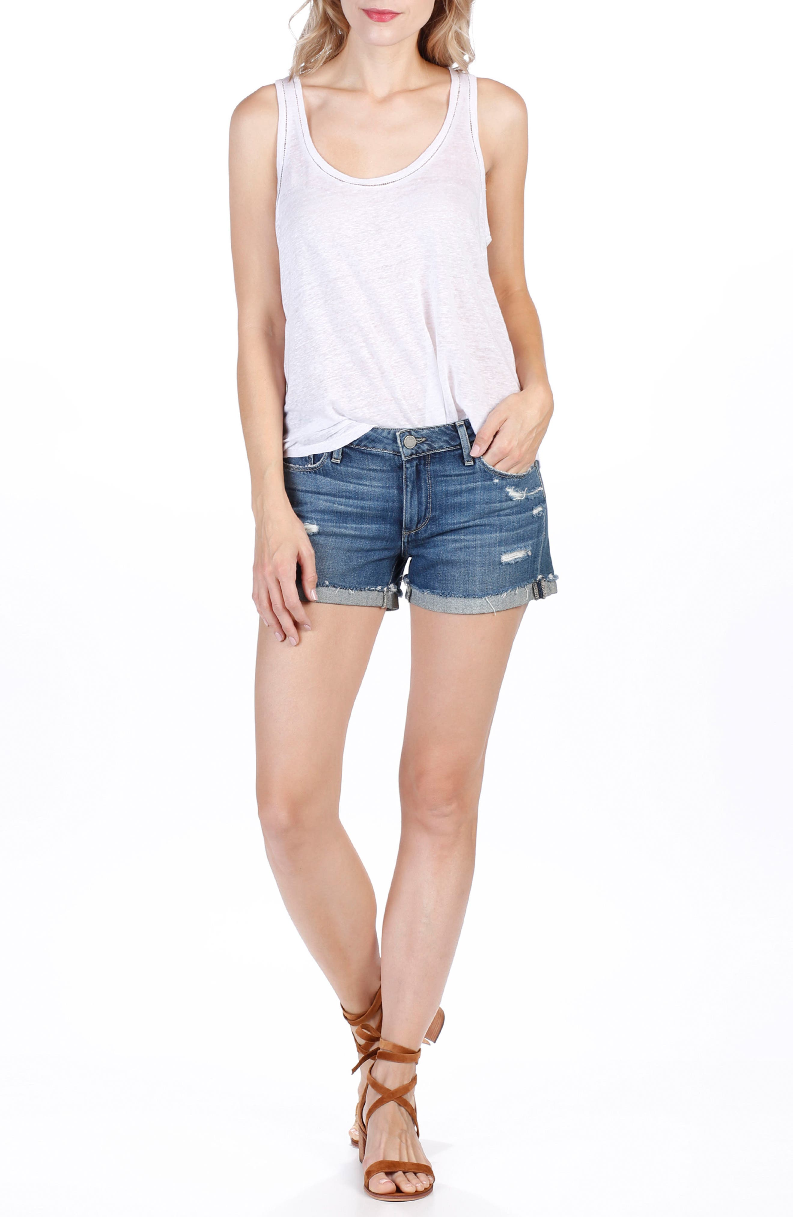 Jimmy Jimmy Denim Shorts,                             Alternate thumbnail 6, color,