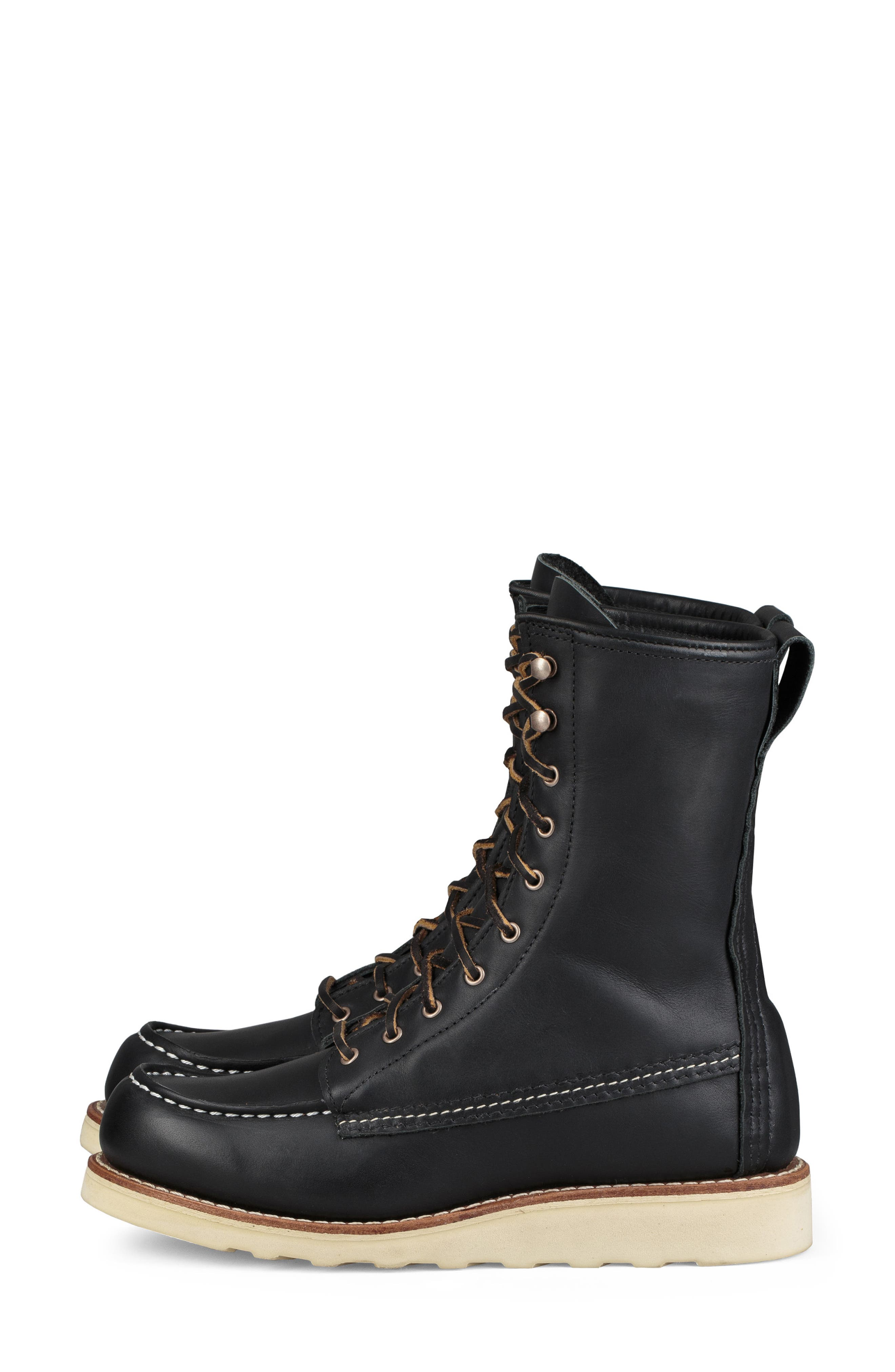 RED WING,                             8-Inch Moc Boot,                             Alternate thumbnail 2, color,                             BLACK BOUNDARY LEATHER