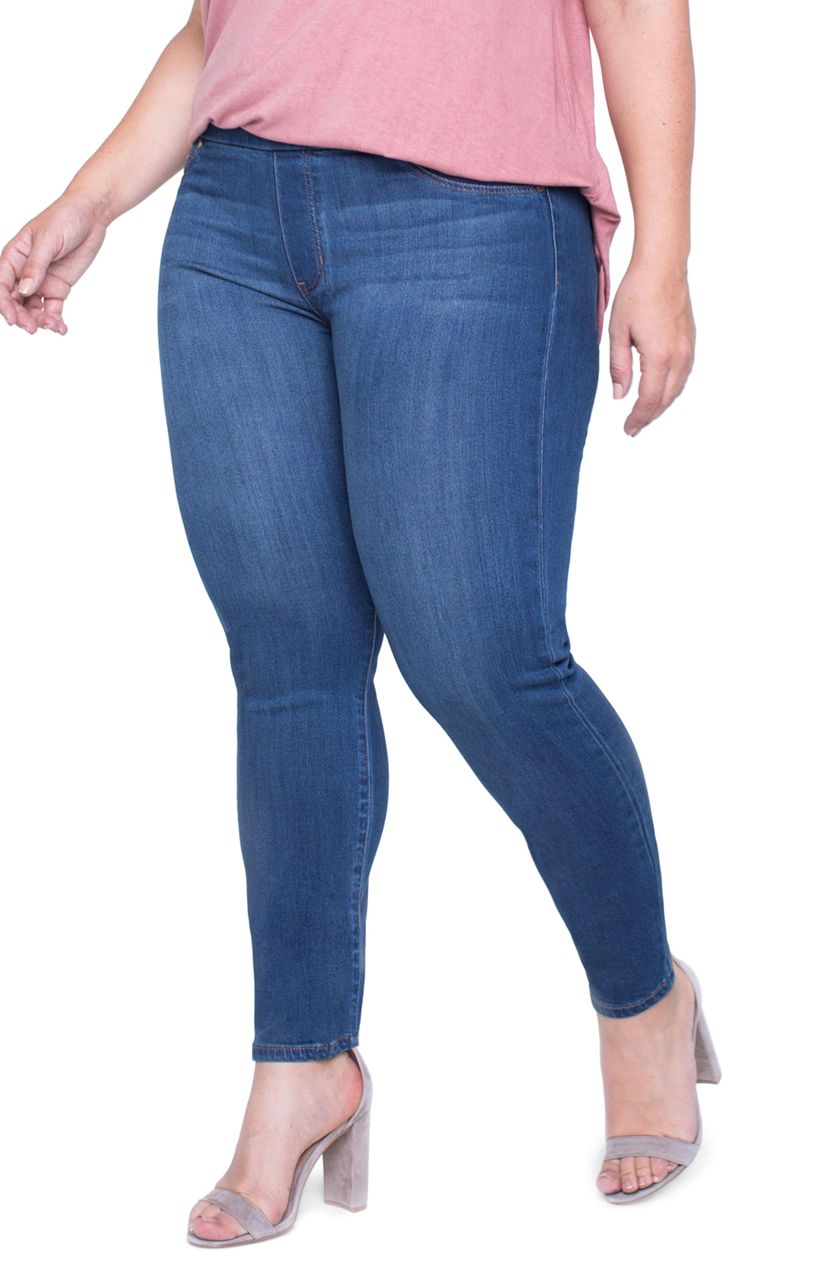 Jeans Company Sienna Mid Rise Soft Stretch Denim Leggings,                             Alternate thumbnail 11, color,