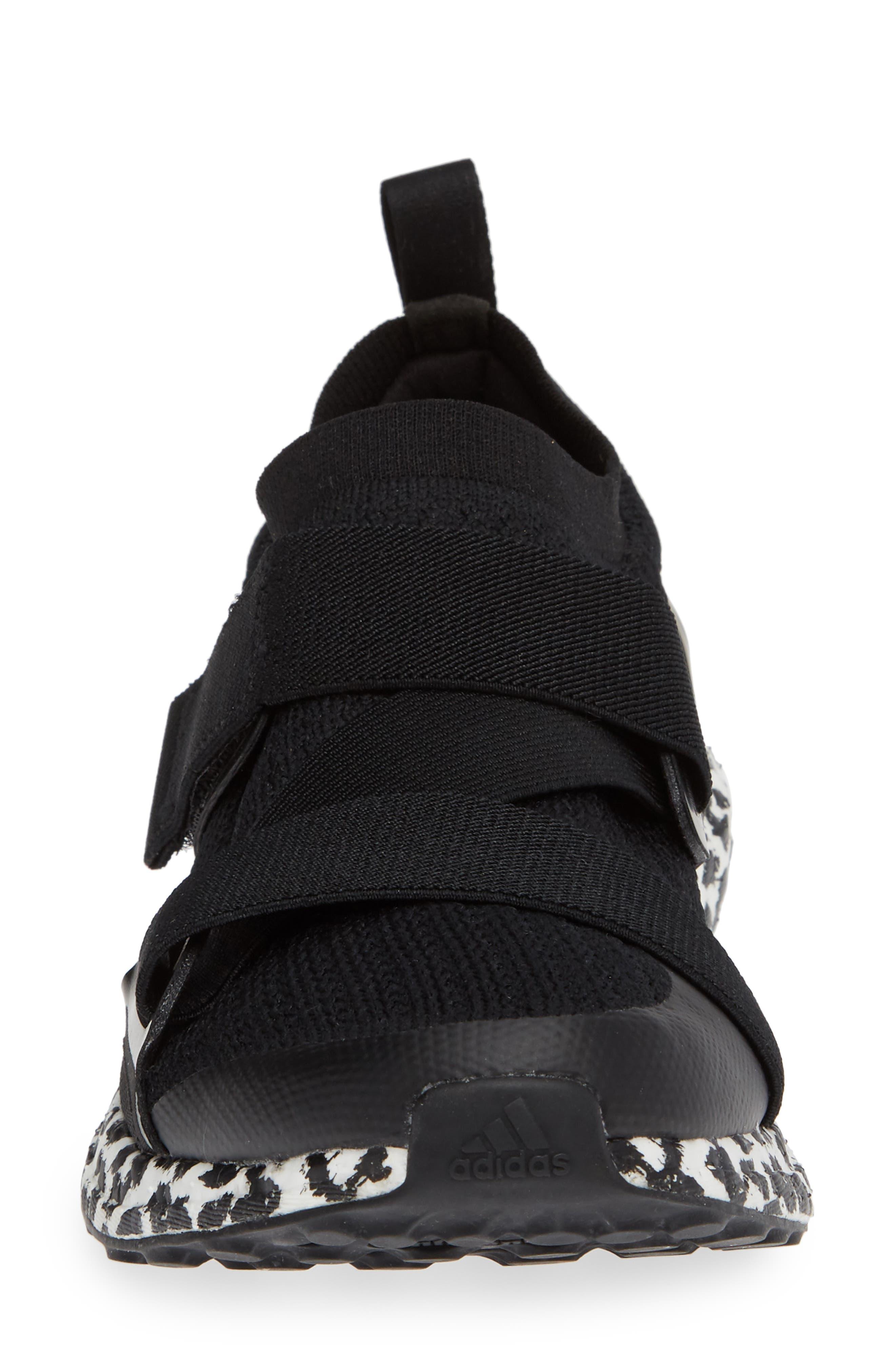 UltraBoost X Running Shoe,                             Alternate thumbnail 4, color,                             BLACK/ BLACK/ WHITE