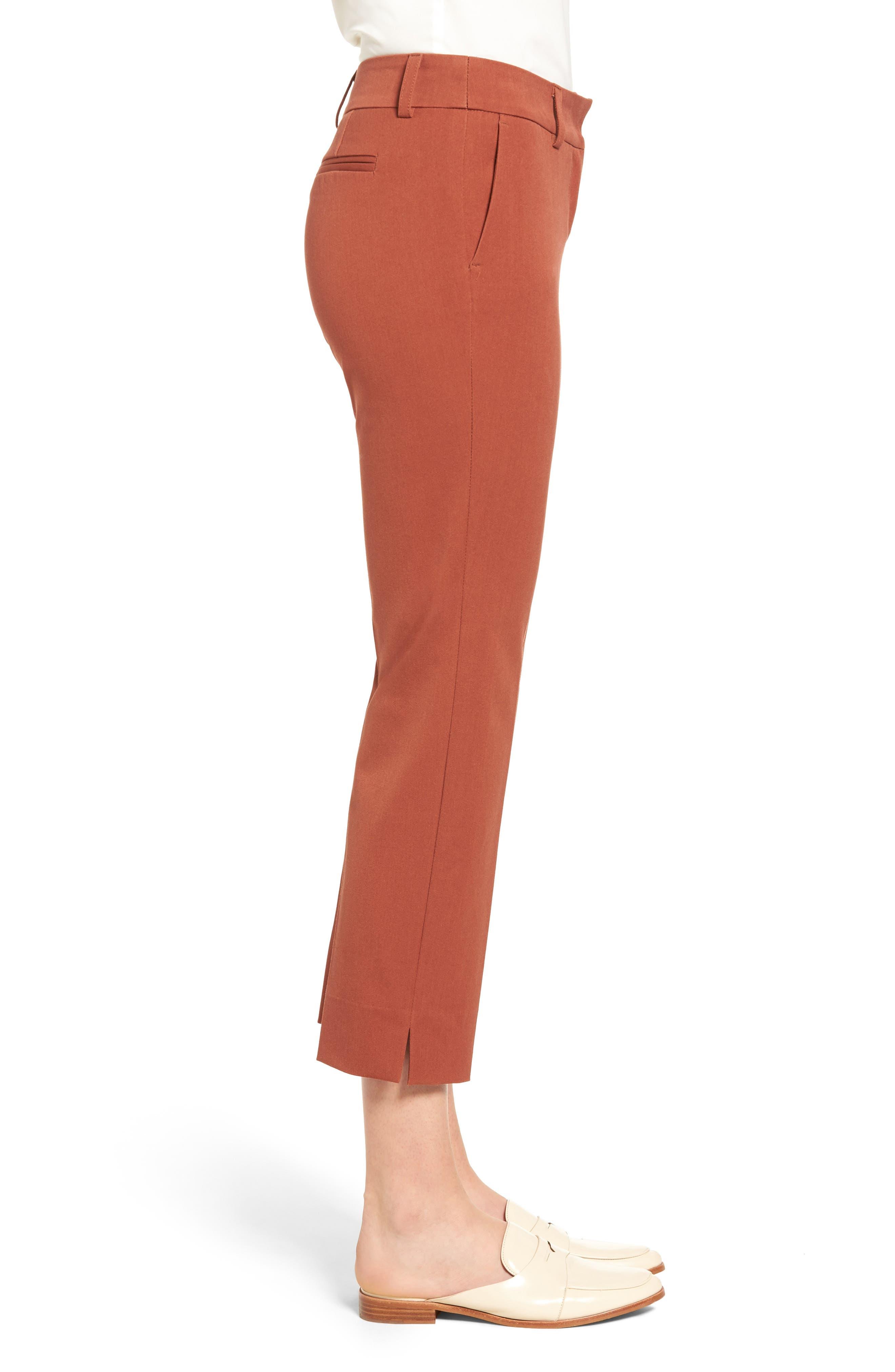 Crop Stretch Cotton Pants,                             Alternate thumbnail 54, color,
