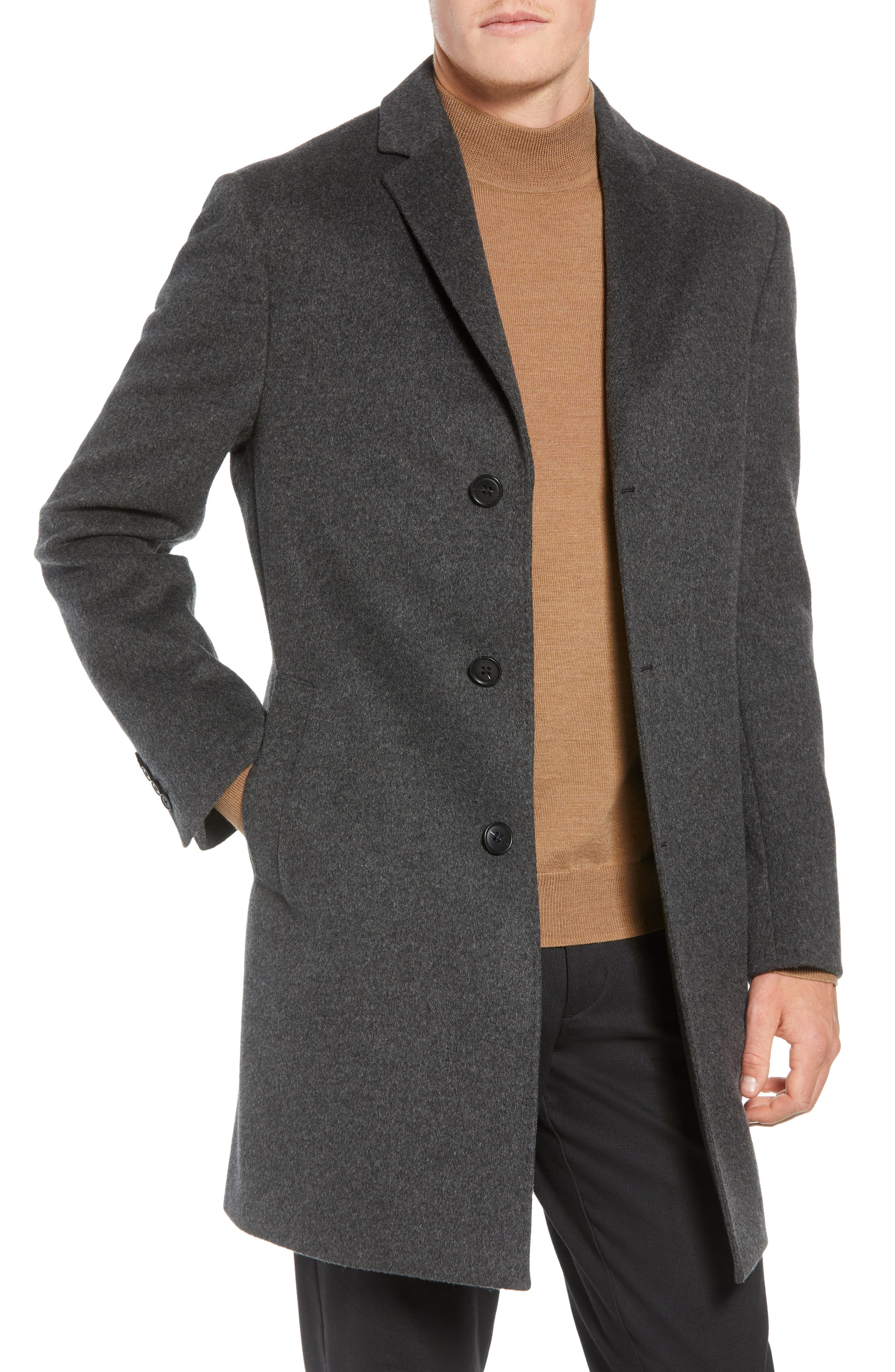 Mason Wool & Cashmere Overcoat,                             Main thumbnail 1, color,                             CHARCOAL