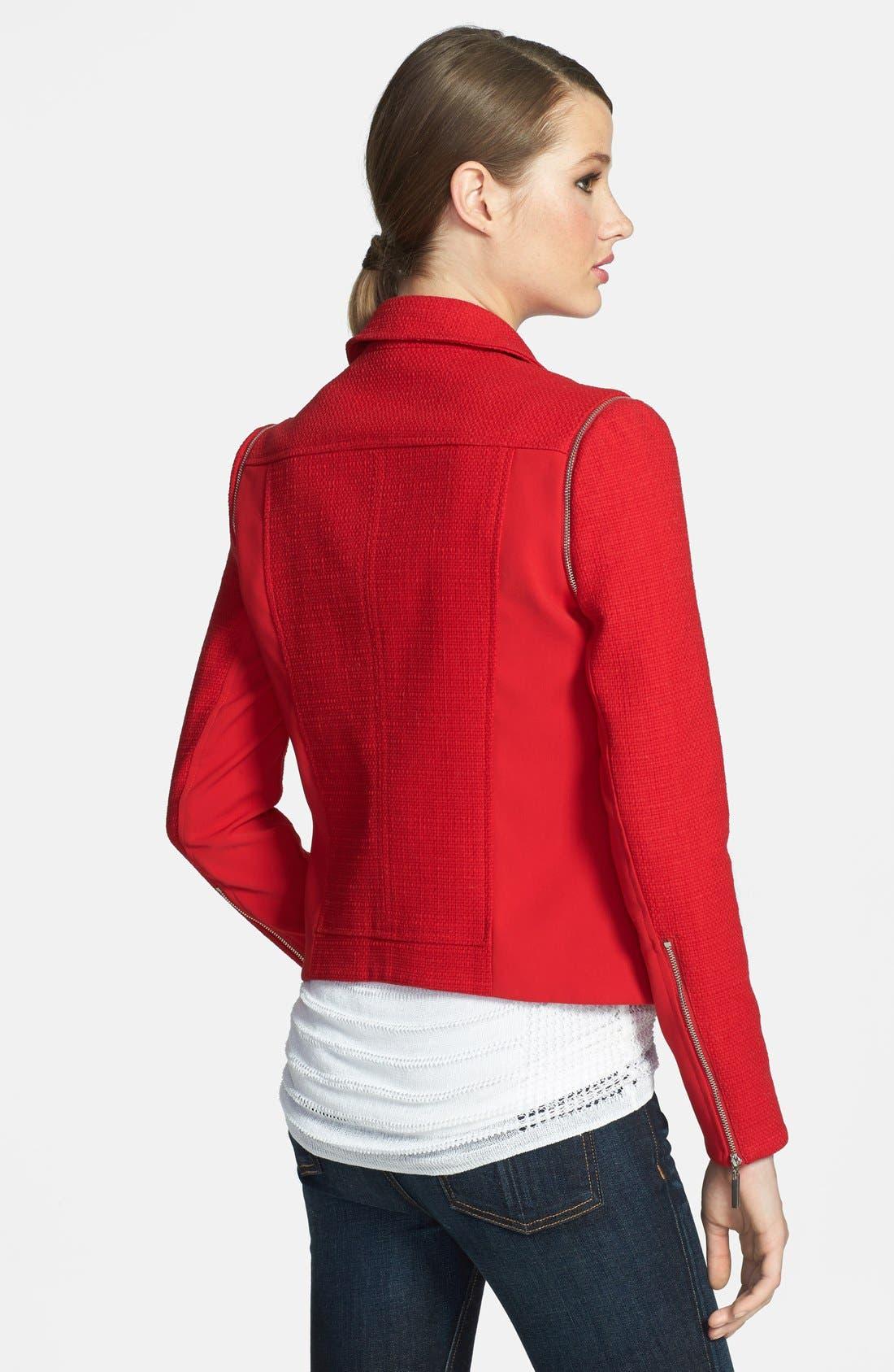 1.STATE,                             Convertible Tweed Moto Jacket,                             Alternate thumbnail 2, color,                             632