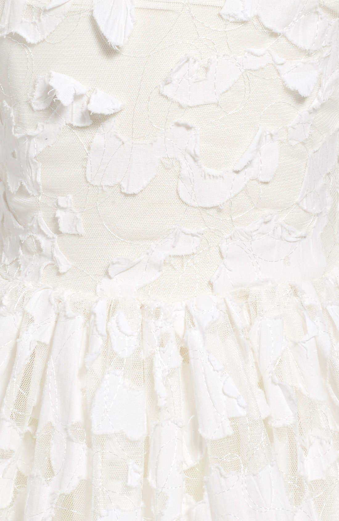 'Pretty in Ivory' Party Dress,                             Alternate thumbnail 4, color,                             900
