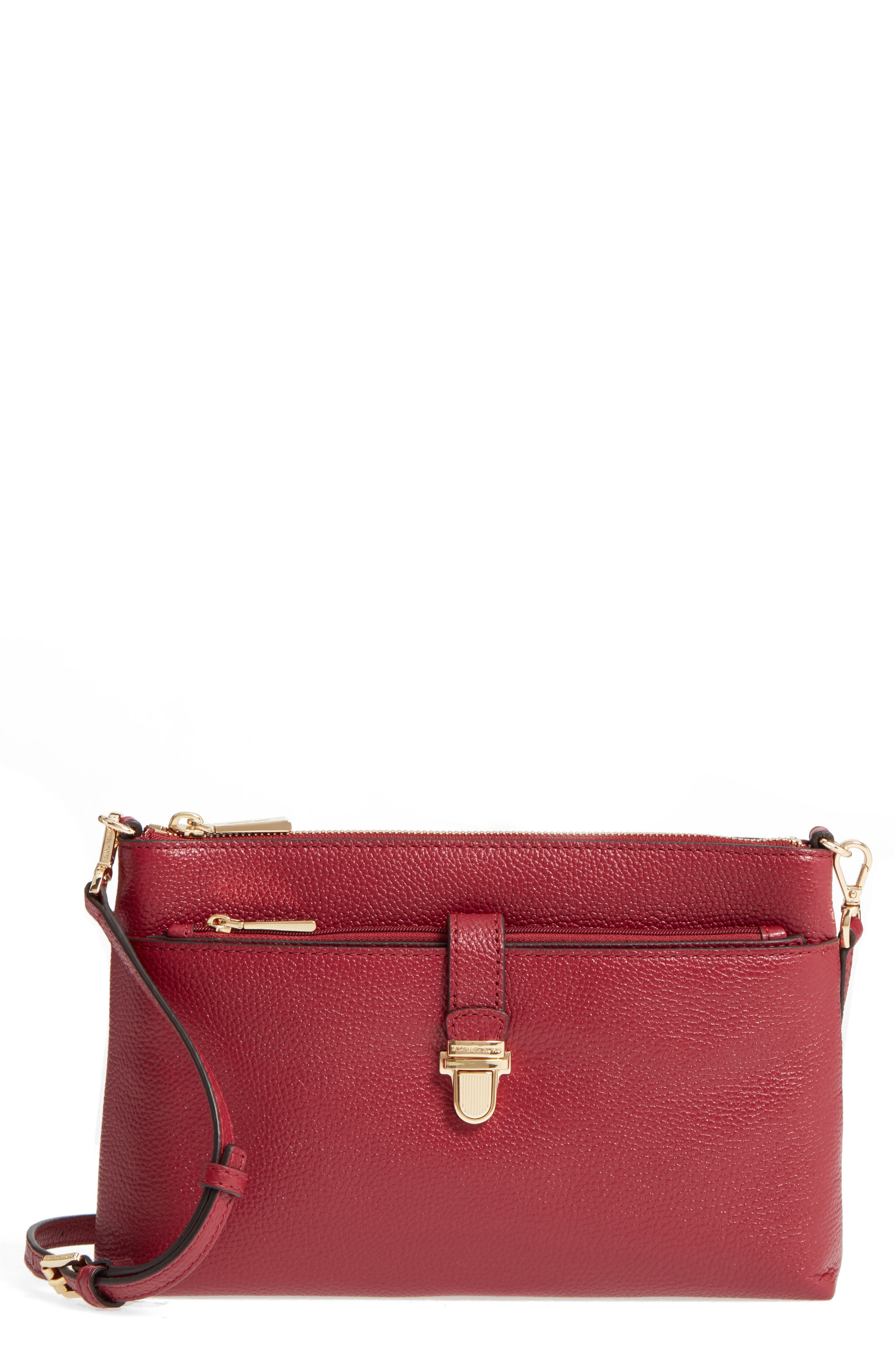 Large Mercer Leather Crossbody Bag,                             Main thumbnail 1, color,                             646