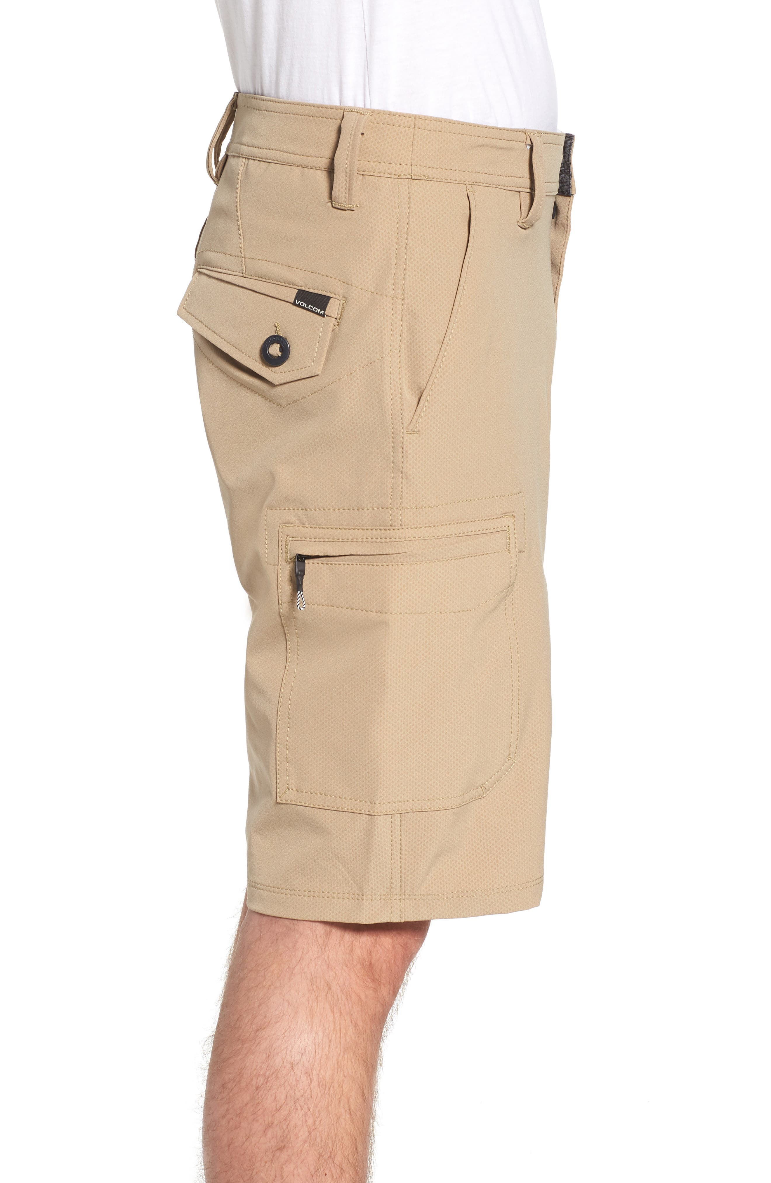 Surf N' Turf Dry Cargo Hybrid Shorts,                             Alternate thumbnail 3, color,                             KHAKI