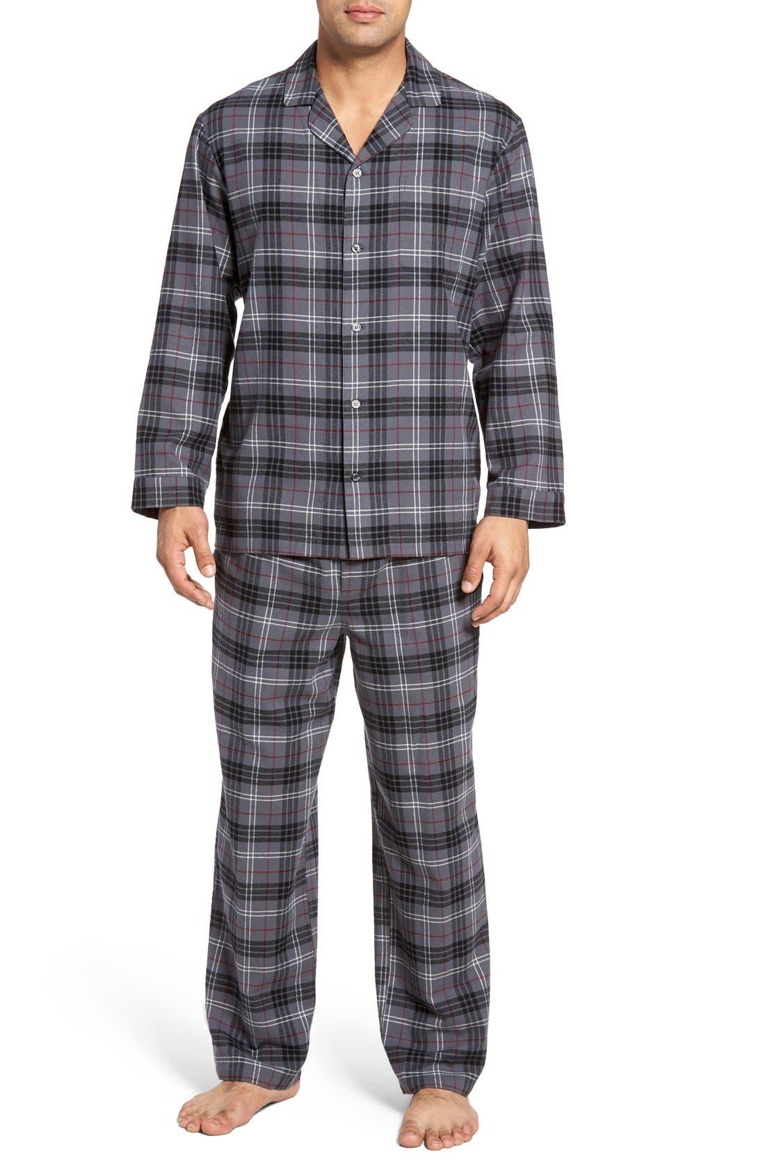 '824' Flannel Pajama Set,                             Main thumbnail 19, color,