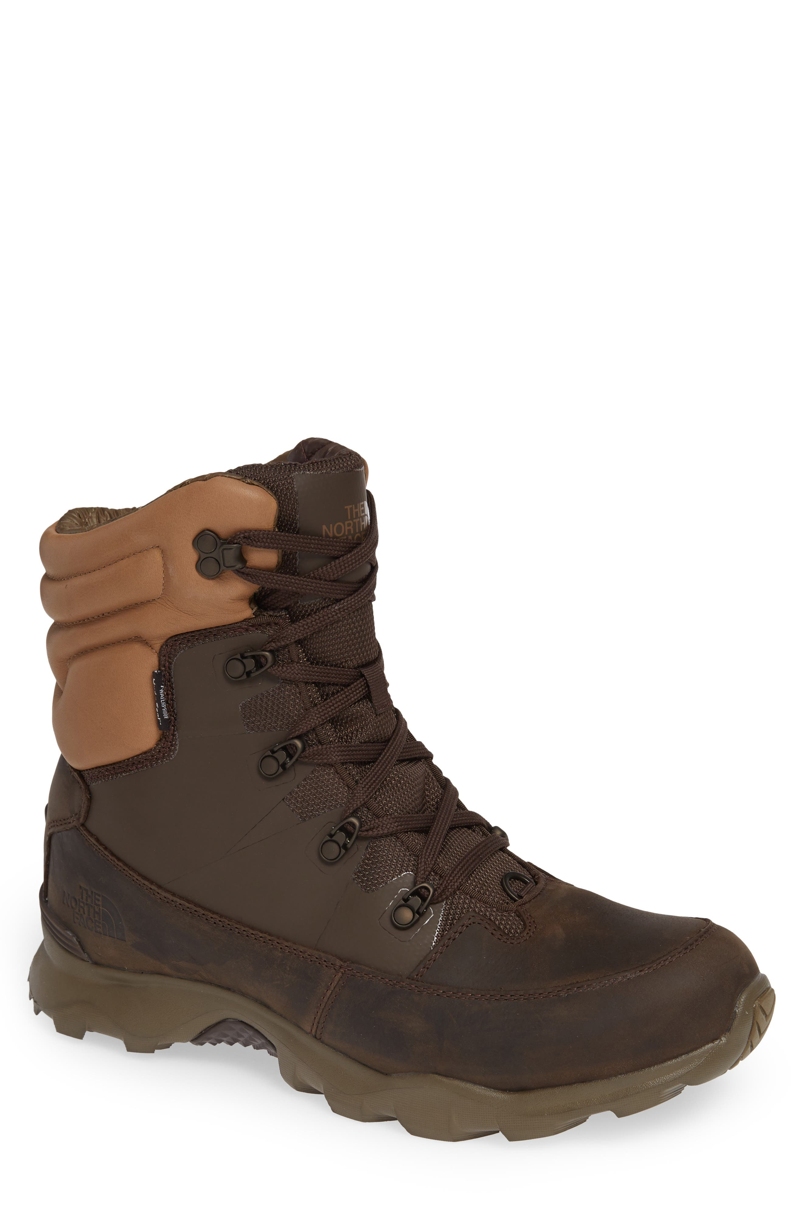 THE NORTH FACE,                             ThermoBall Lifty Snow Waterproof Boot,                             Main thumbnail 1, color,                             CHOCOLATE BROWN/ CARGO KHAKI