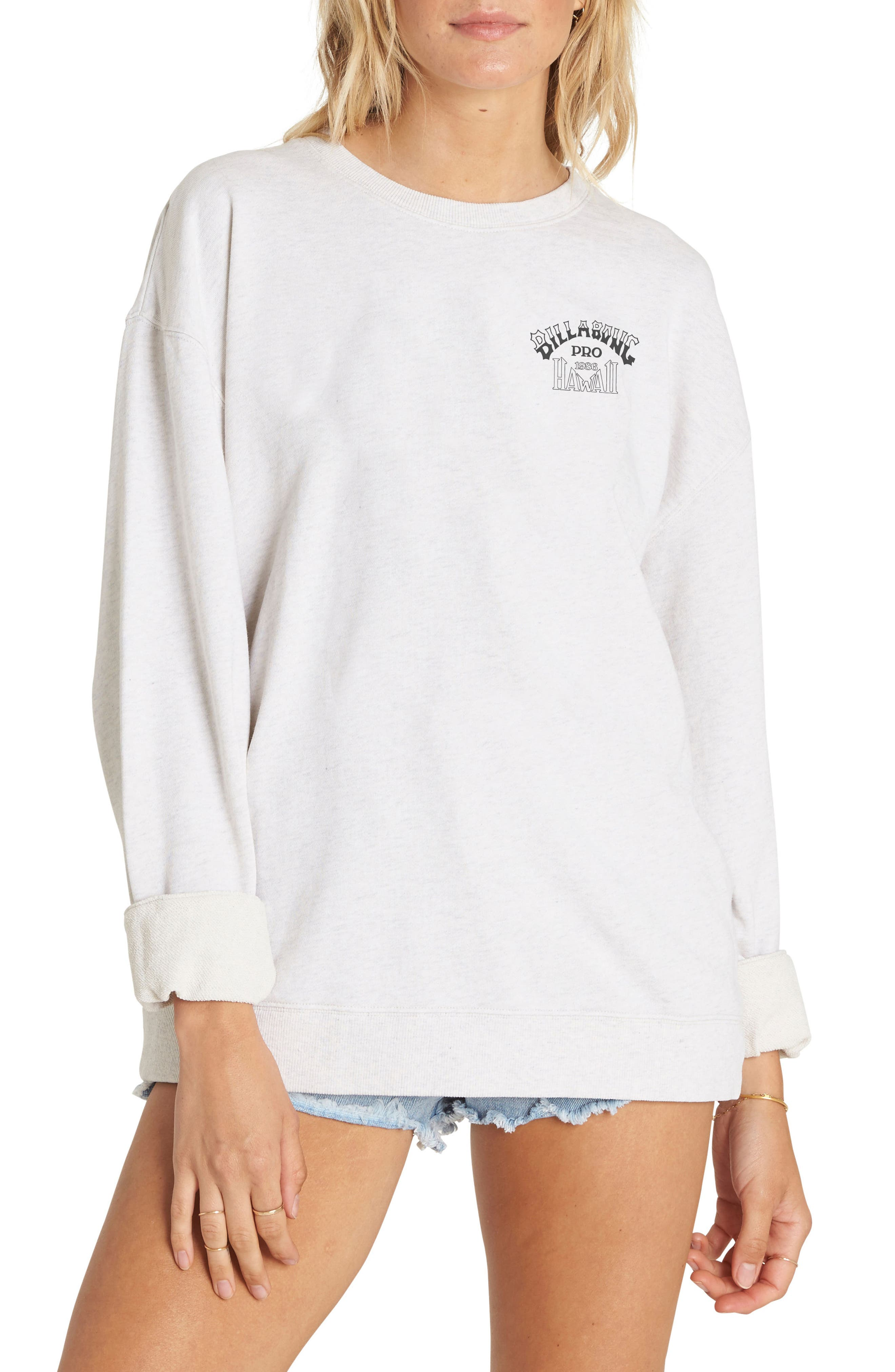 White Wash Sweatshirt,                         Main,                         color,