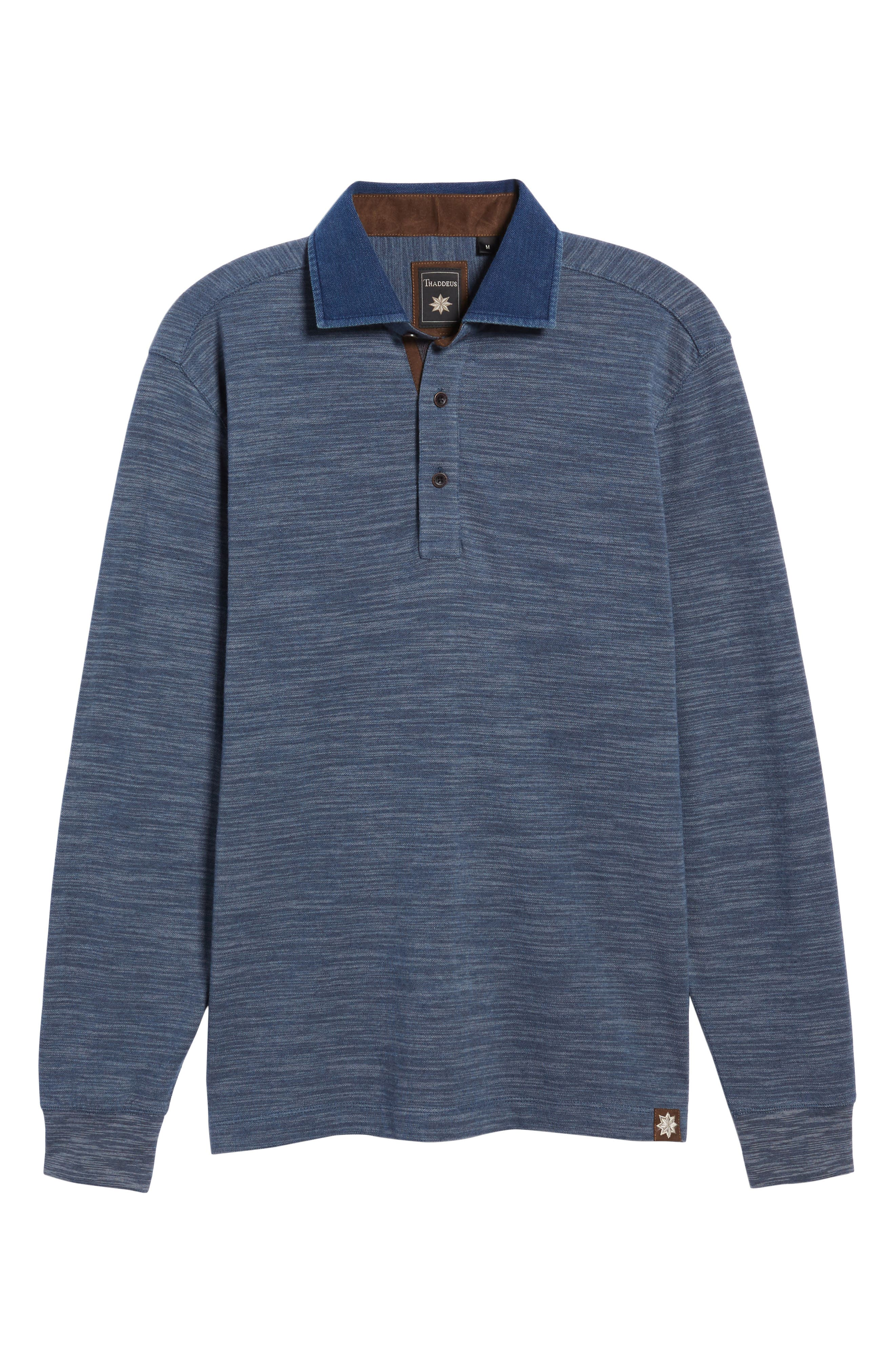 Patton Space Dyed Long Sleeve Polo,                             Alternate thumbnail 17, color,