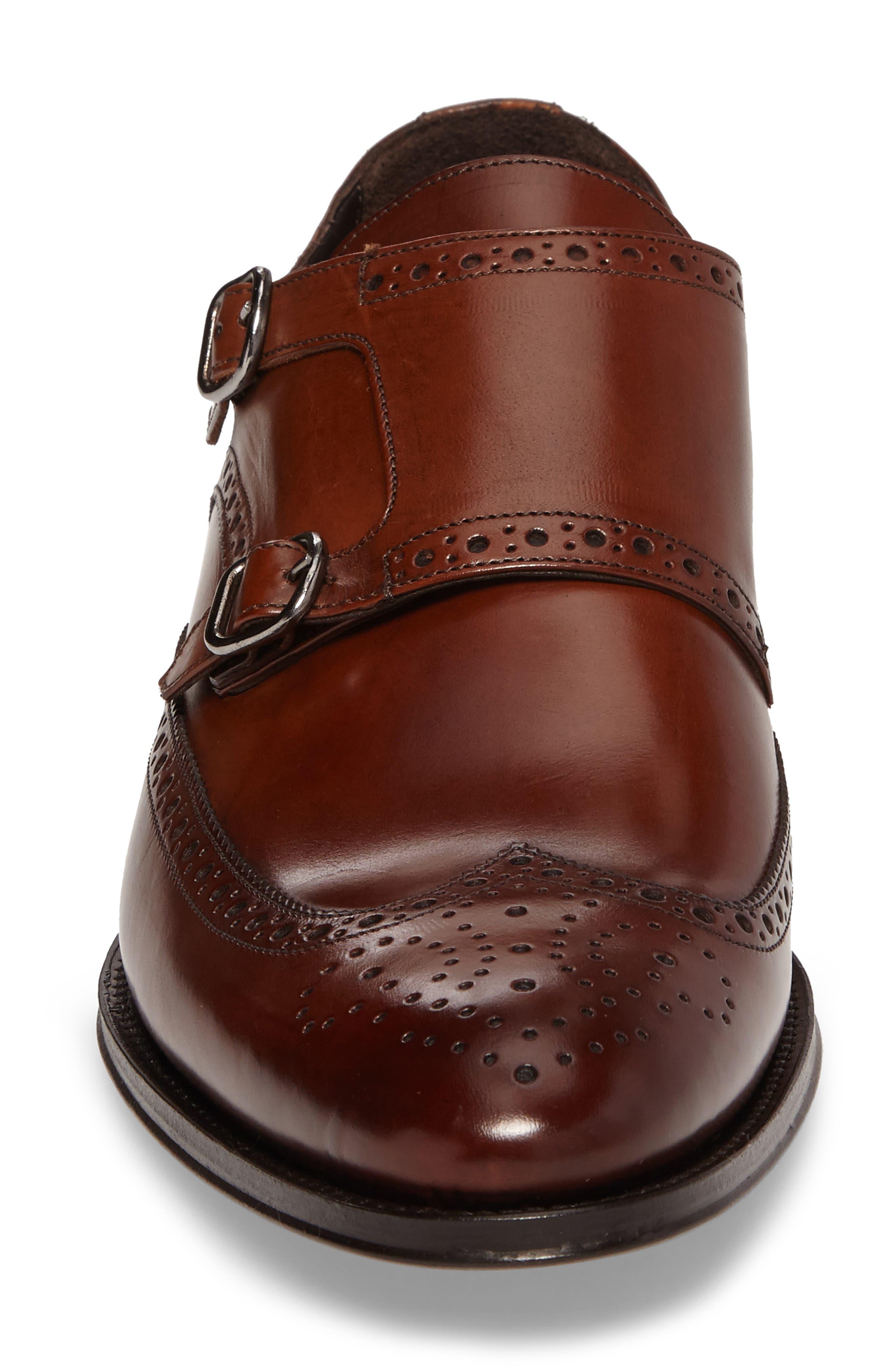 Pike Double Monk Strap Shoe,                             Alternate thumbnail 4, color,