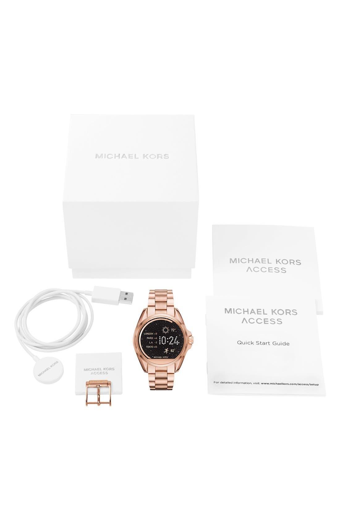 MICHAEL Michael Kors Bradshaw Access Bracelet Smart Watch, 45mm,                             Alternate thumbnail 43, color,