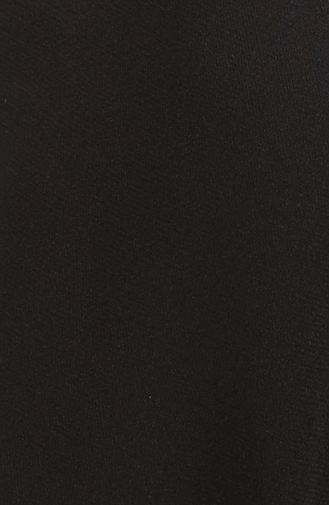 Simona Tie Back Stretch Silk Blouse,                             Alternate thumbnail 5, color,                             001