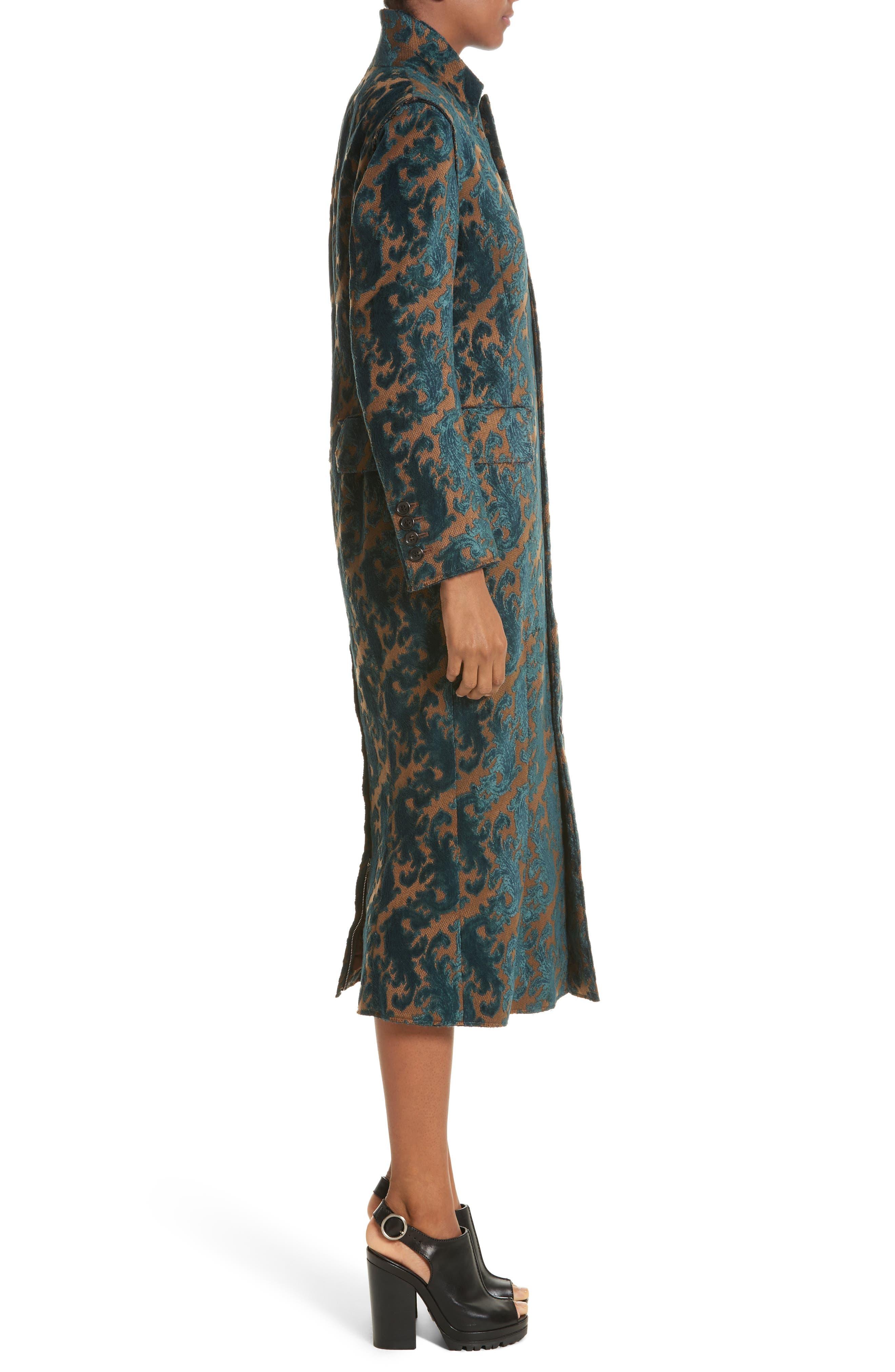 Detachable Sleeve Coat Dress,                             Alternate thumbnail 3, color,                             960