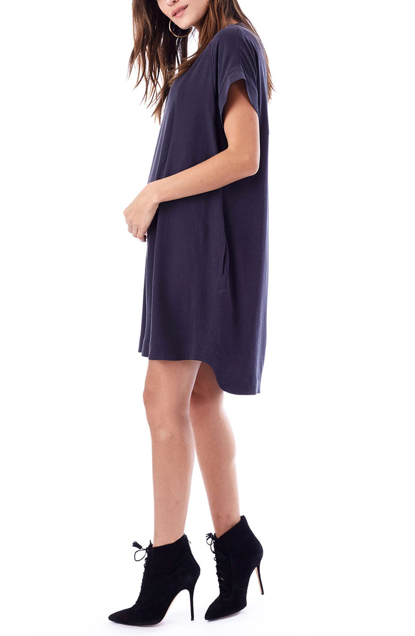 Cybelle Maternity/Nursing Shirtdress,                             Alternate thumbnail 3, color,                             CHARCOAL