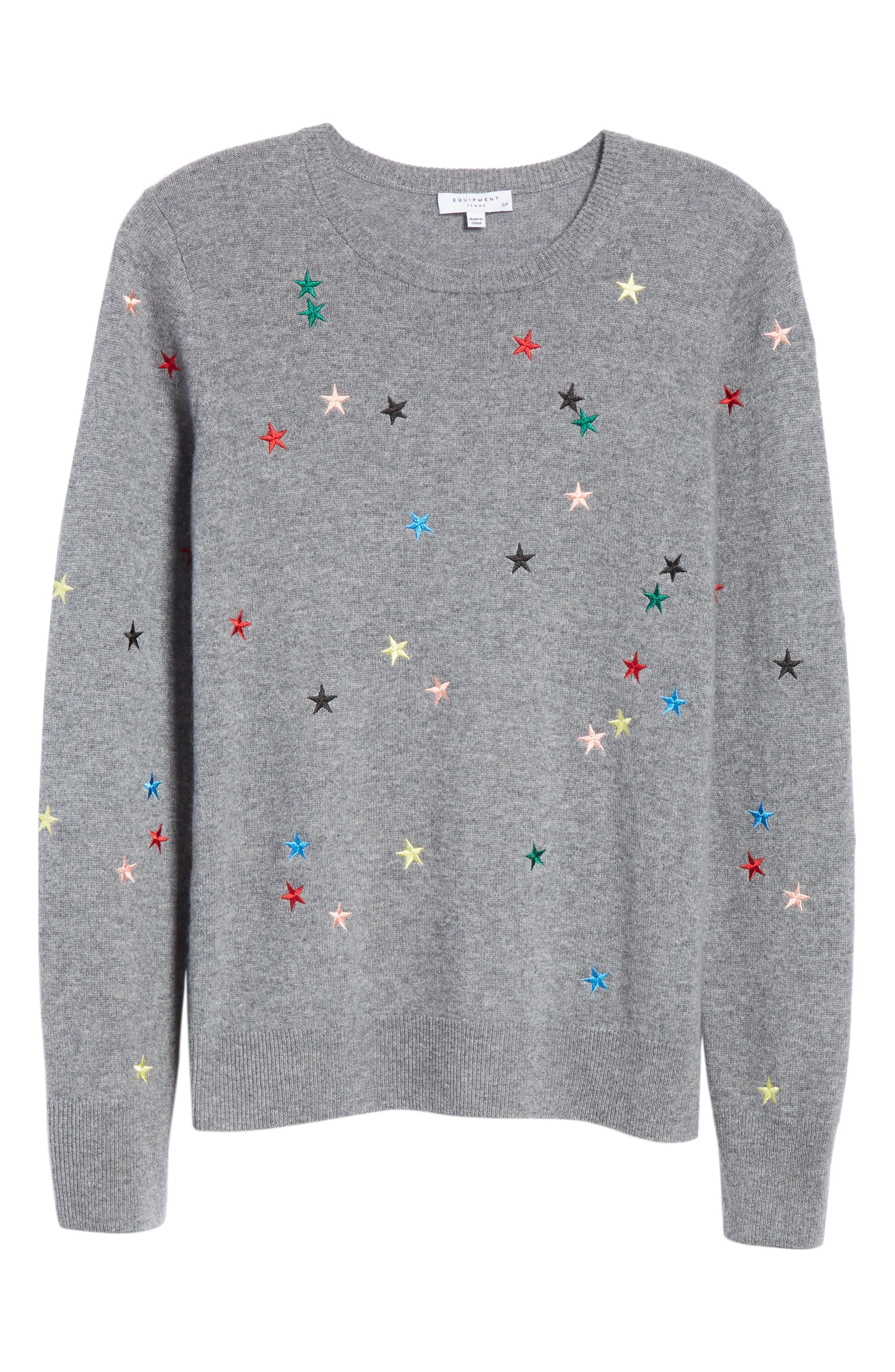 Shane Star Cashmere Sweater,                             Alternate thumbnail 6, color,                             030