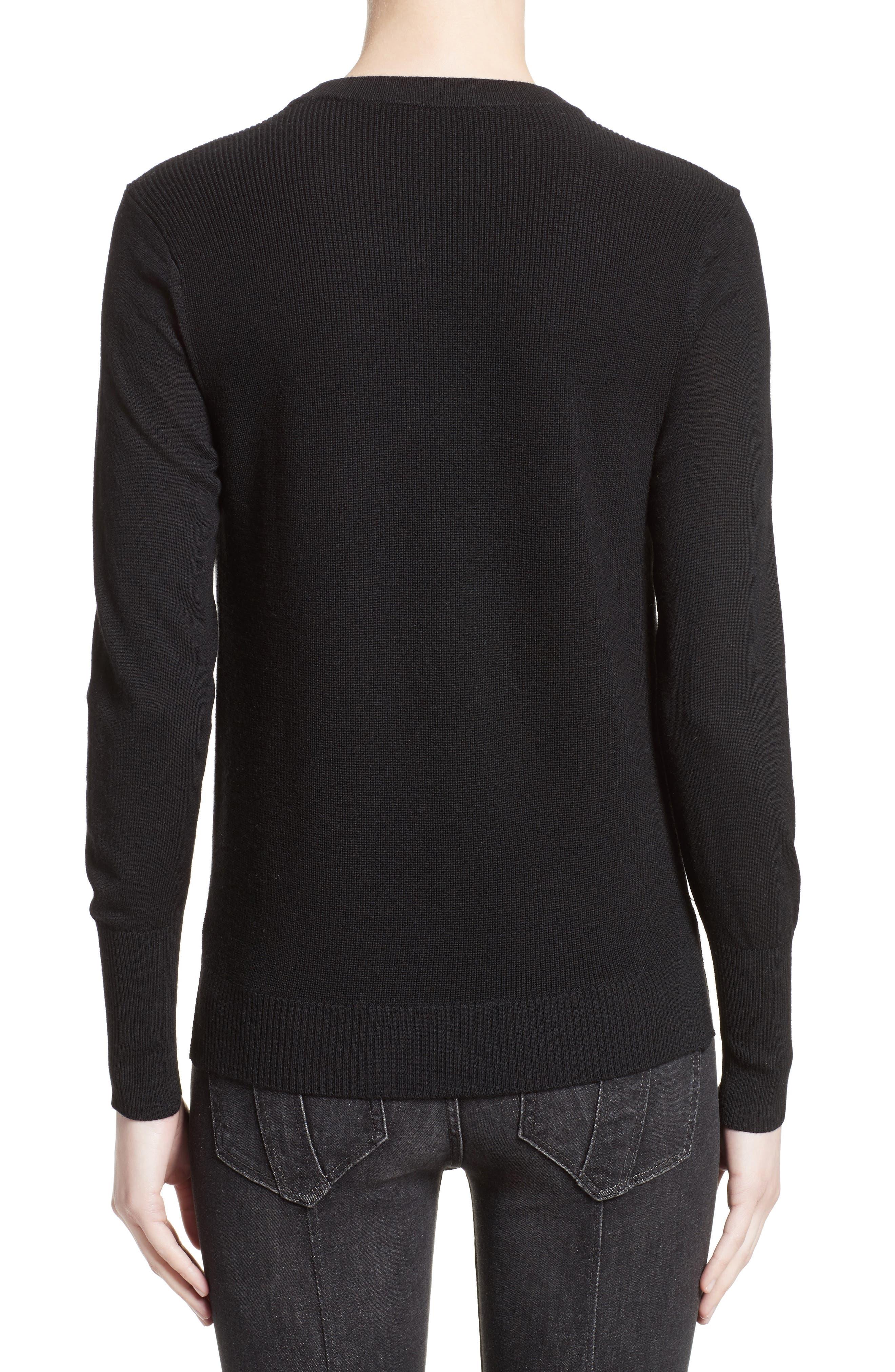 Meigan Merino Wool Sweater,                             Alternate thumbnail 2, color,                             001