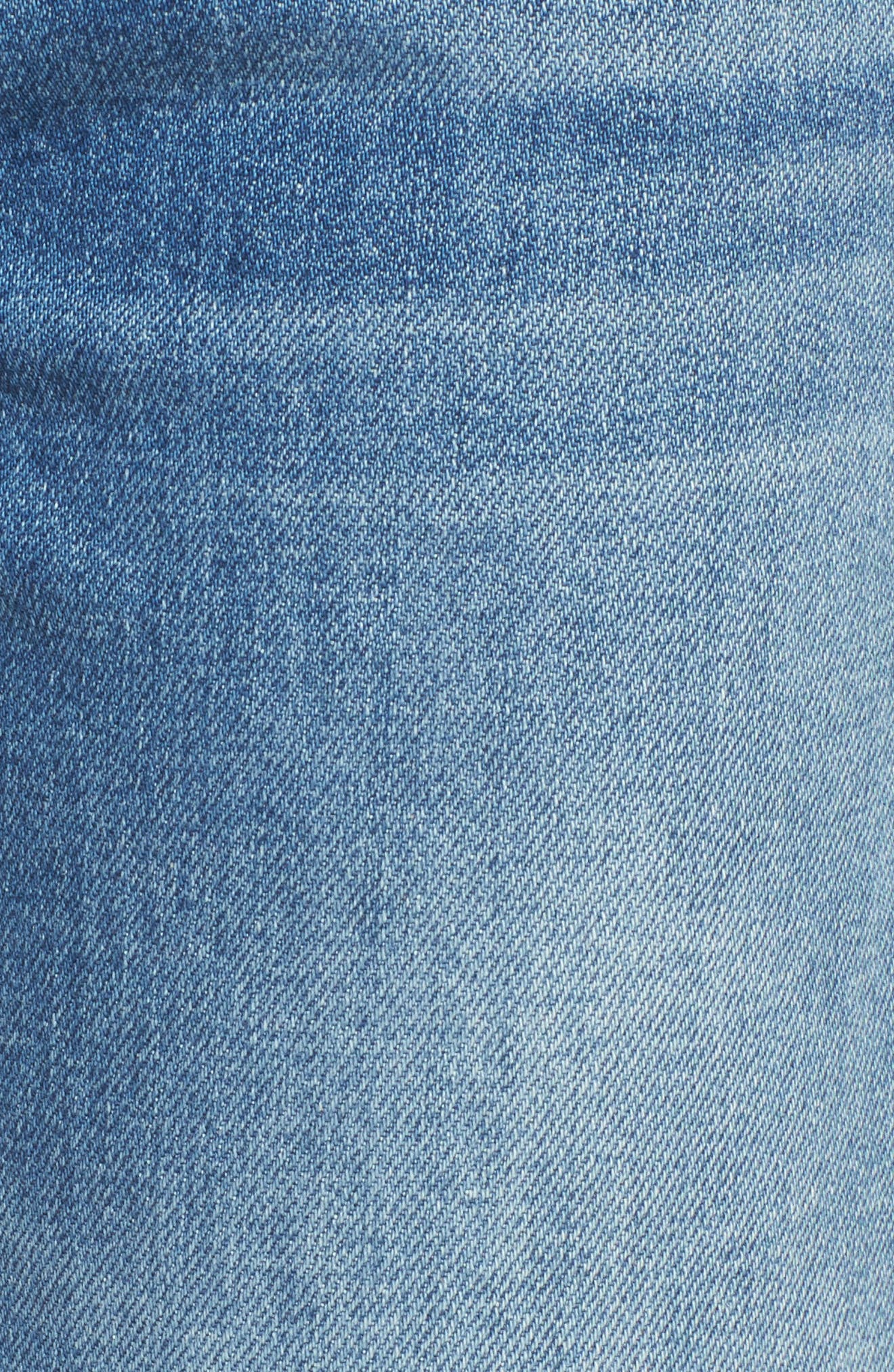 Edie Pieced Hem Cropped Jeans,                             Alternate thumbnail 6, color,                             401