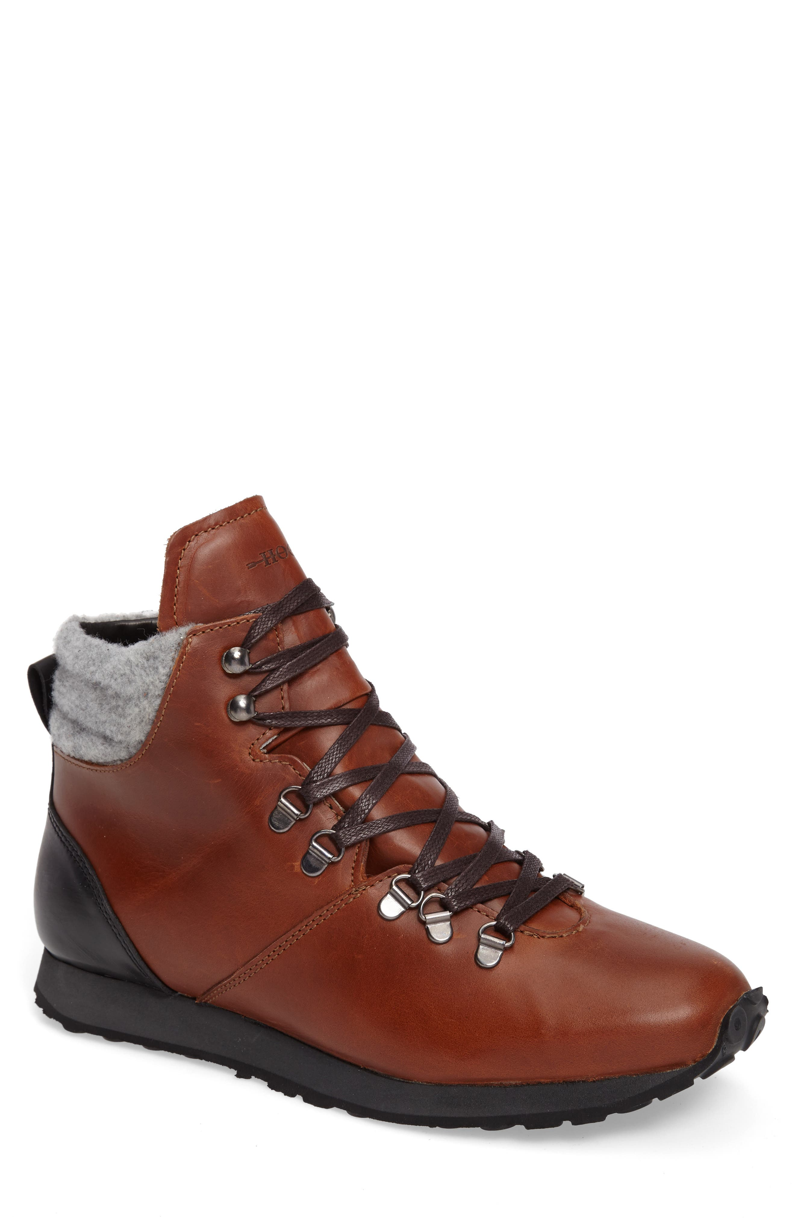 Concord Mid Top Wool Cuffed Waterproof Boot,                             Main thumbnail 2, color,