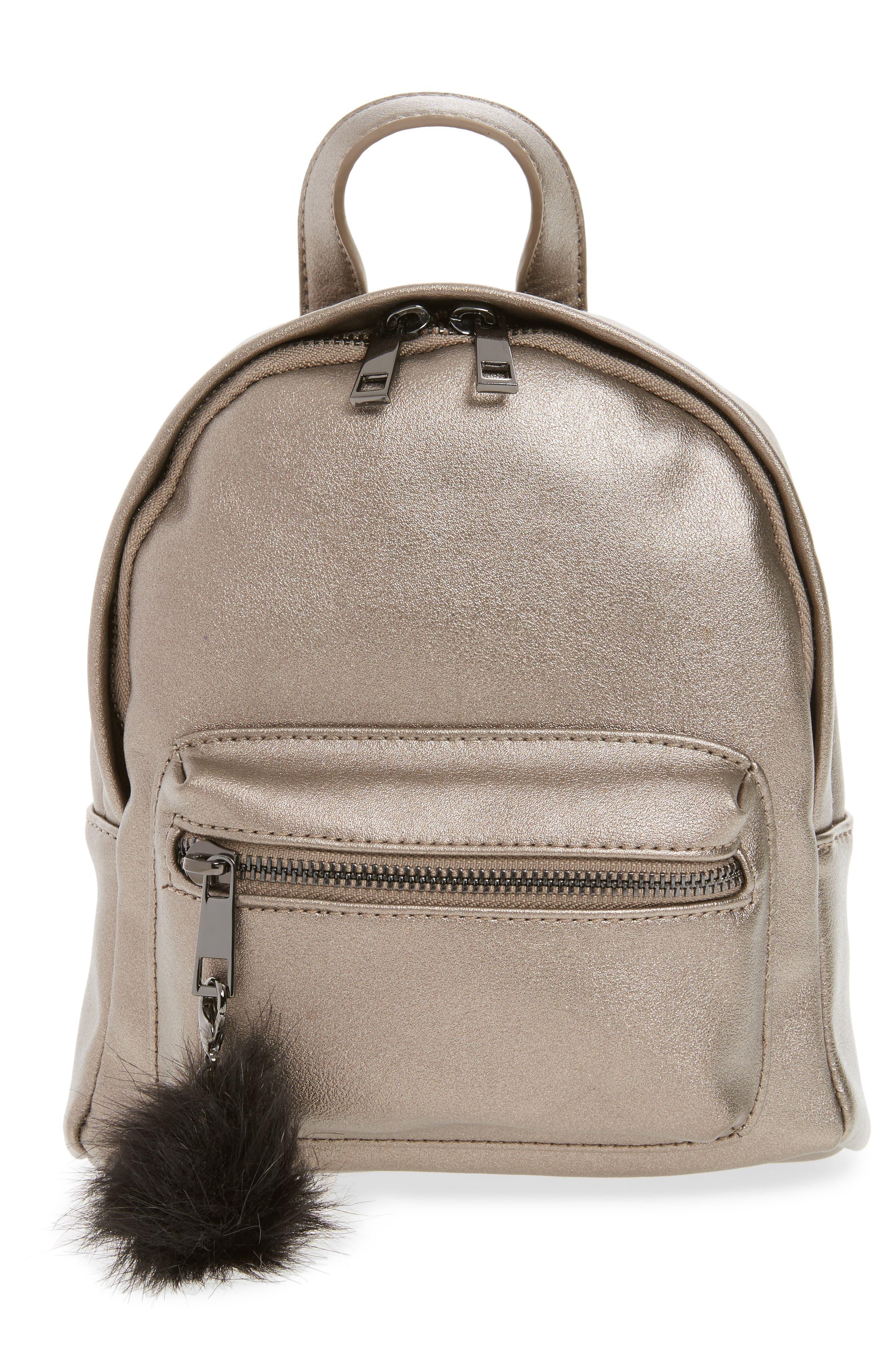 Faux Leather Mini Backpack,                             Main thumbnail 2, color,