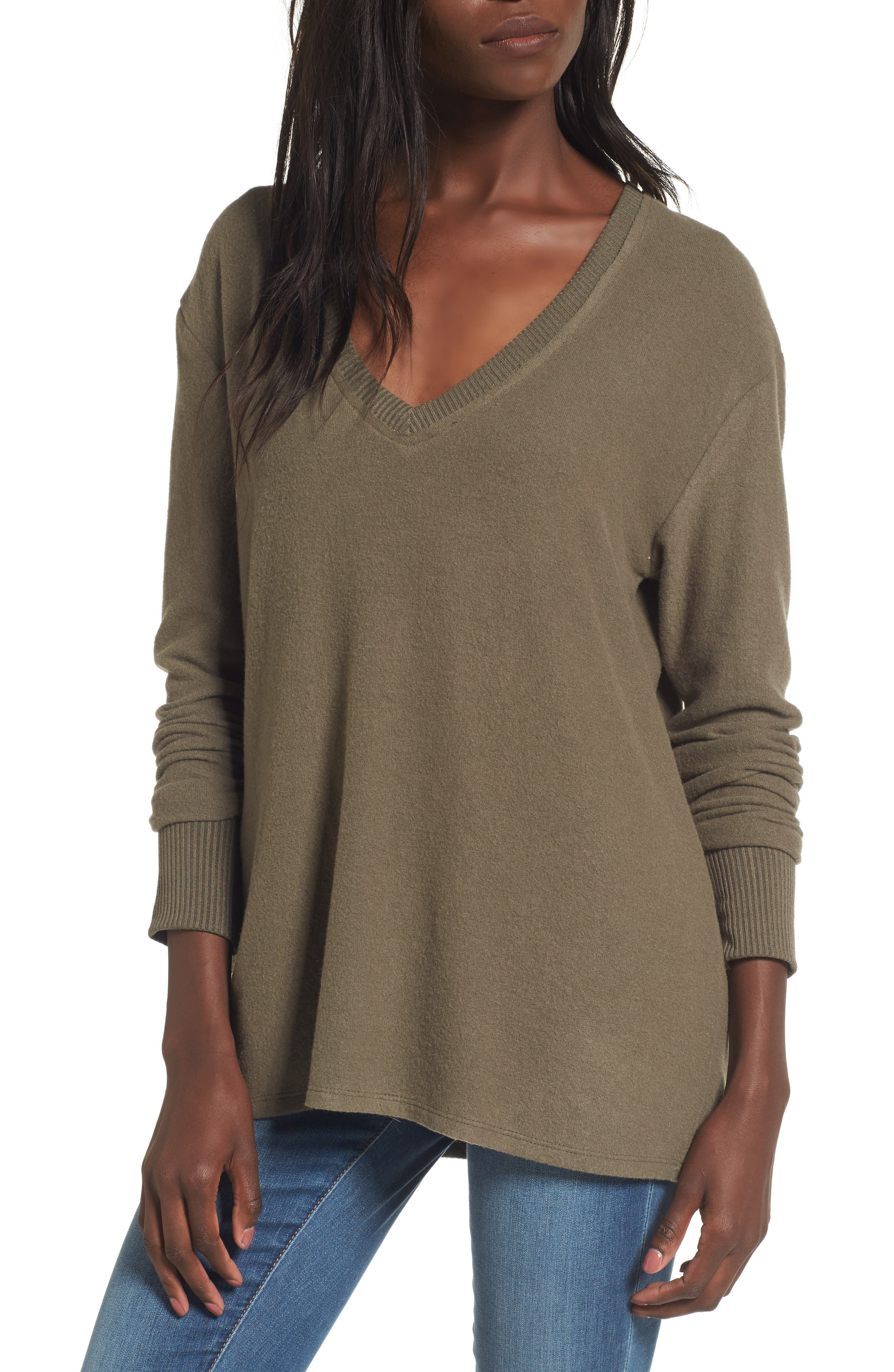 V-Neck Pullover,                             Main thumbnail 4, color,
