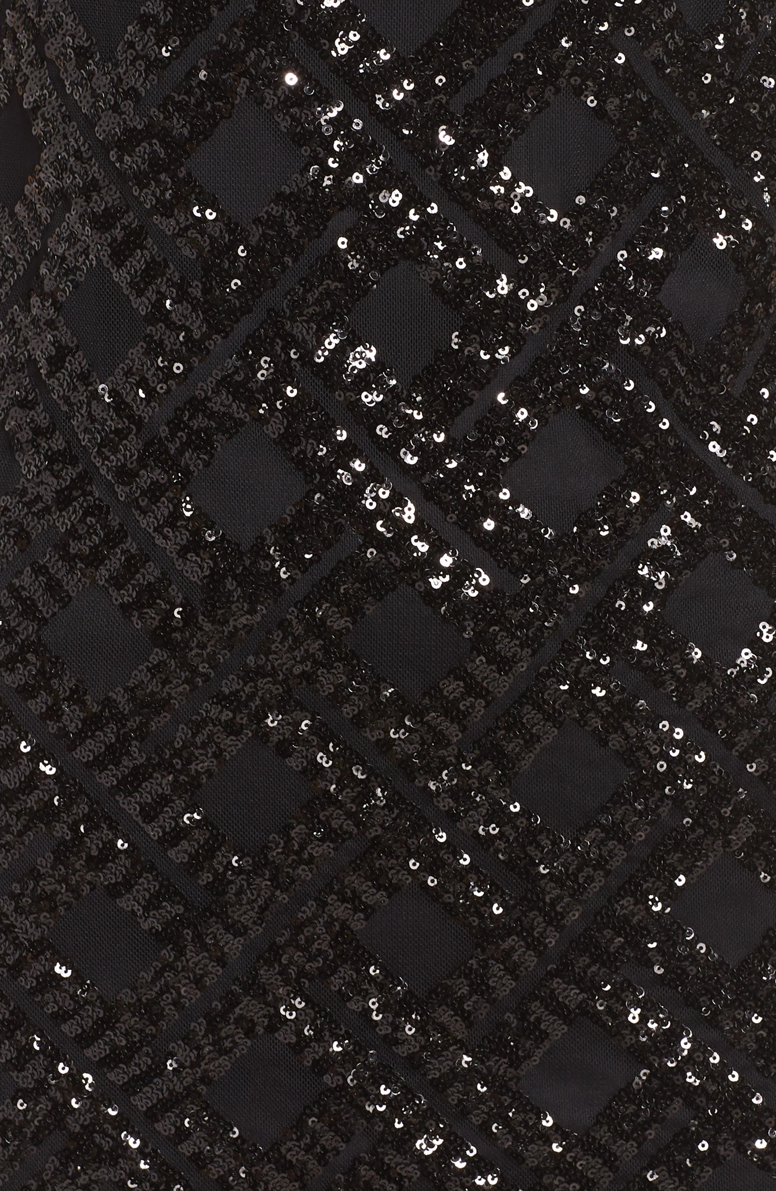 Sequin Sheath Dress,                             Alternate thumbnail 6, color,                             BLACK