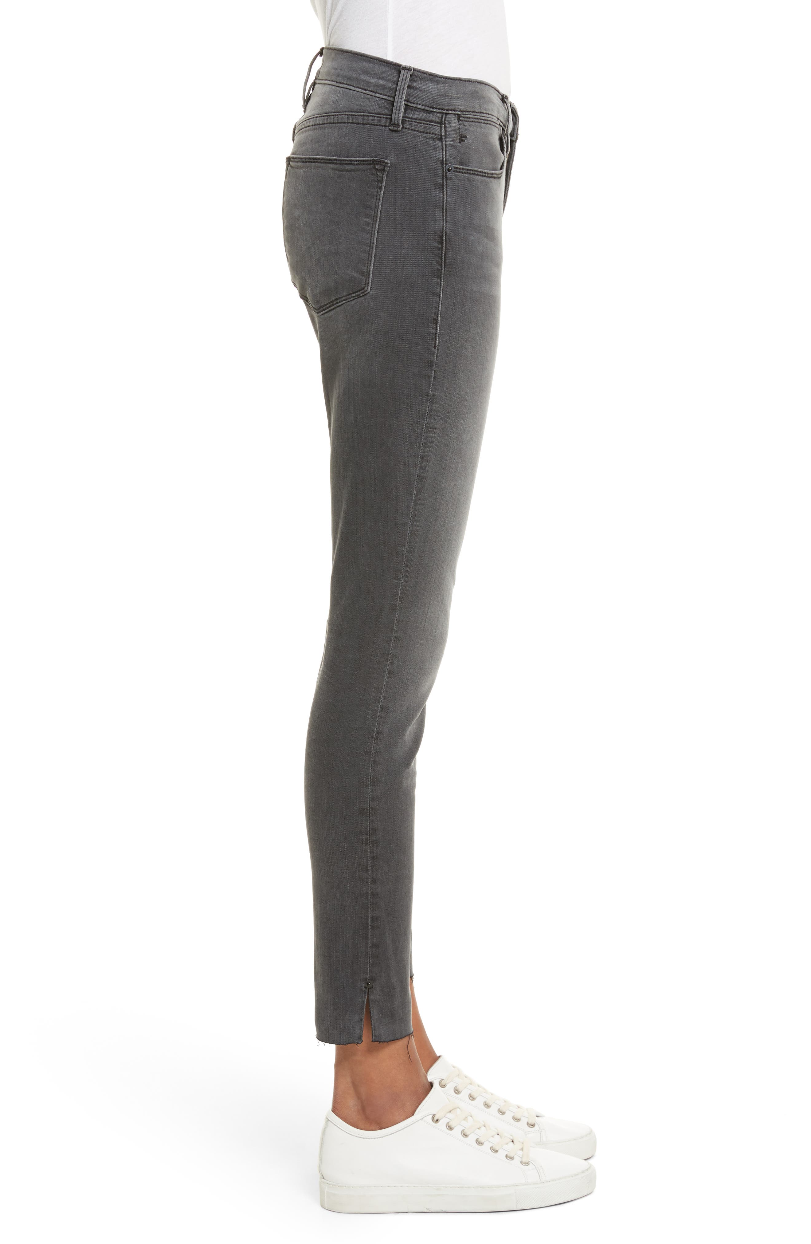 Le High Ankle Skinny Jeans,                             Alternate thumbnail 3, color,                             030
