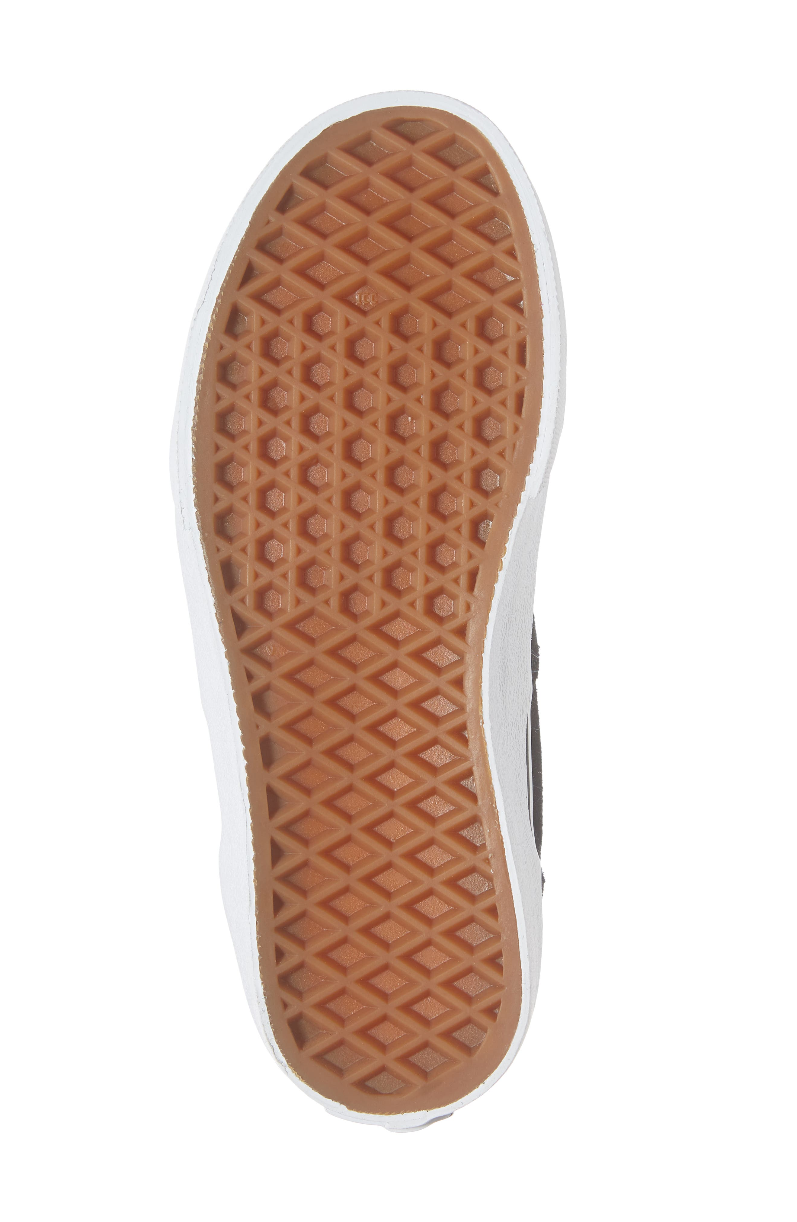 Old Skool Zip Sneaker,                             Alternate thumbnail 6, color,                             SUEDE ALLOY/ PINK/ TRUE WHITE