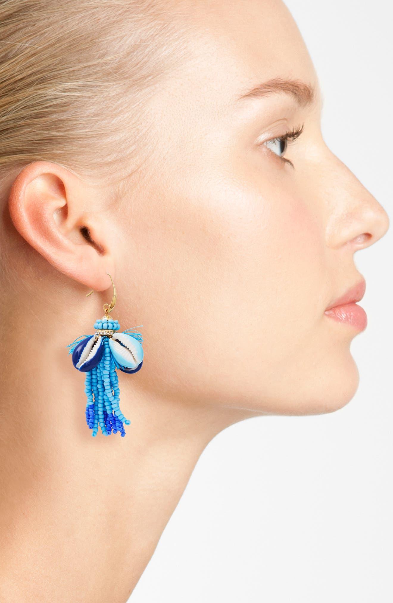 Lola Seed Bead Tassel Earrings,                             Alternate thumbnail 2, color,                             400