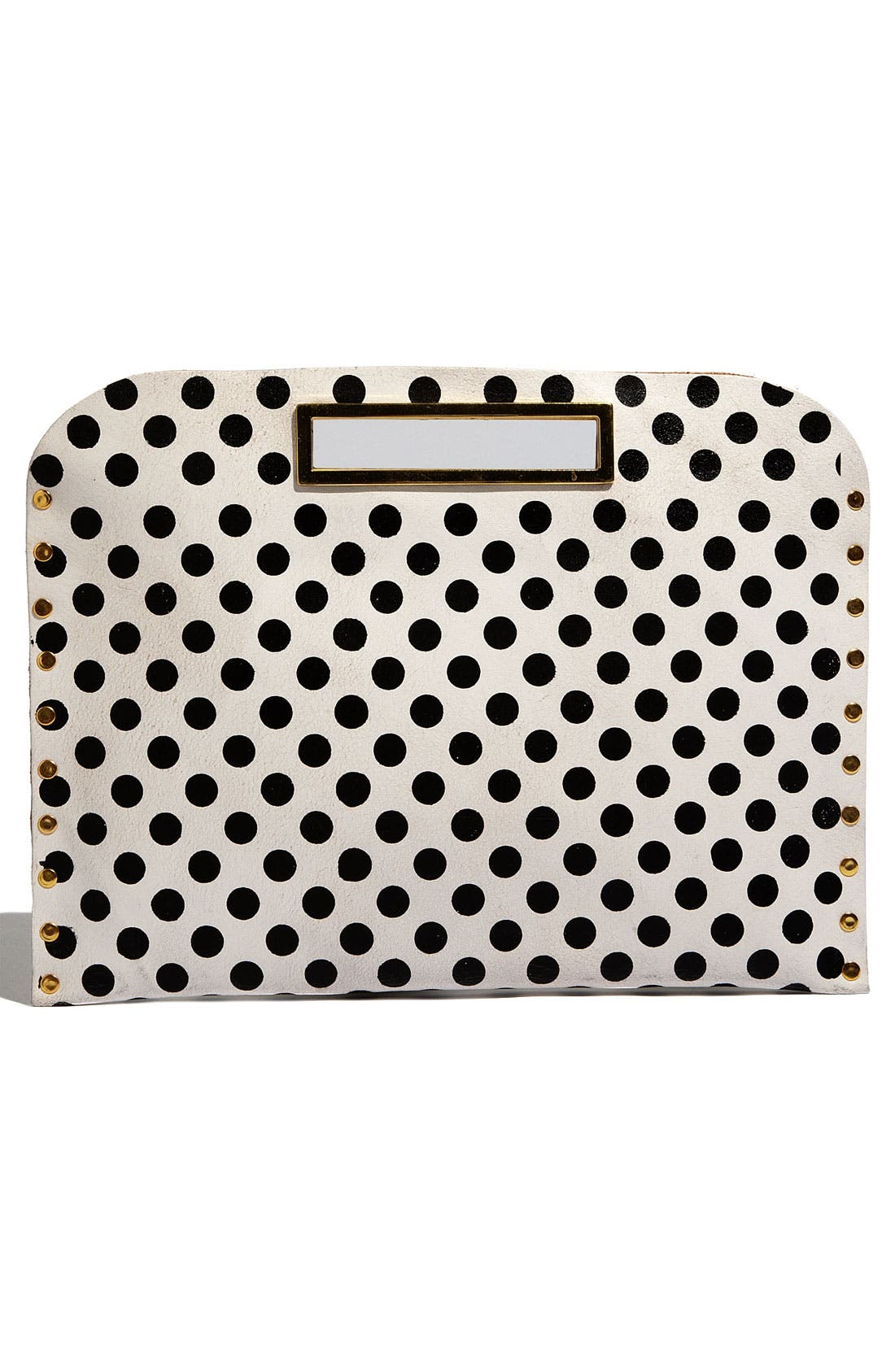 Oversized Polka Dot Clutch,                             Main thumbnail 1, color,                             101