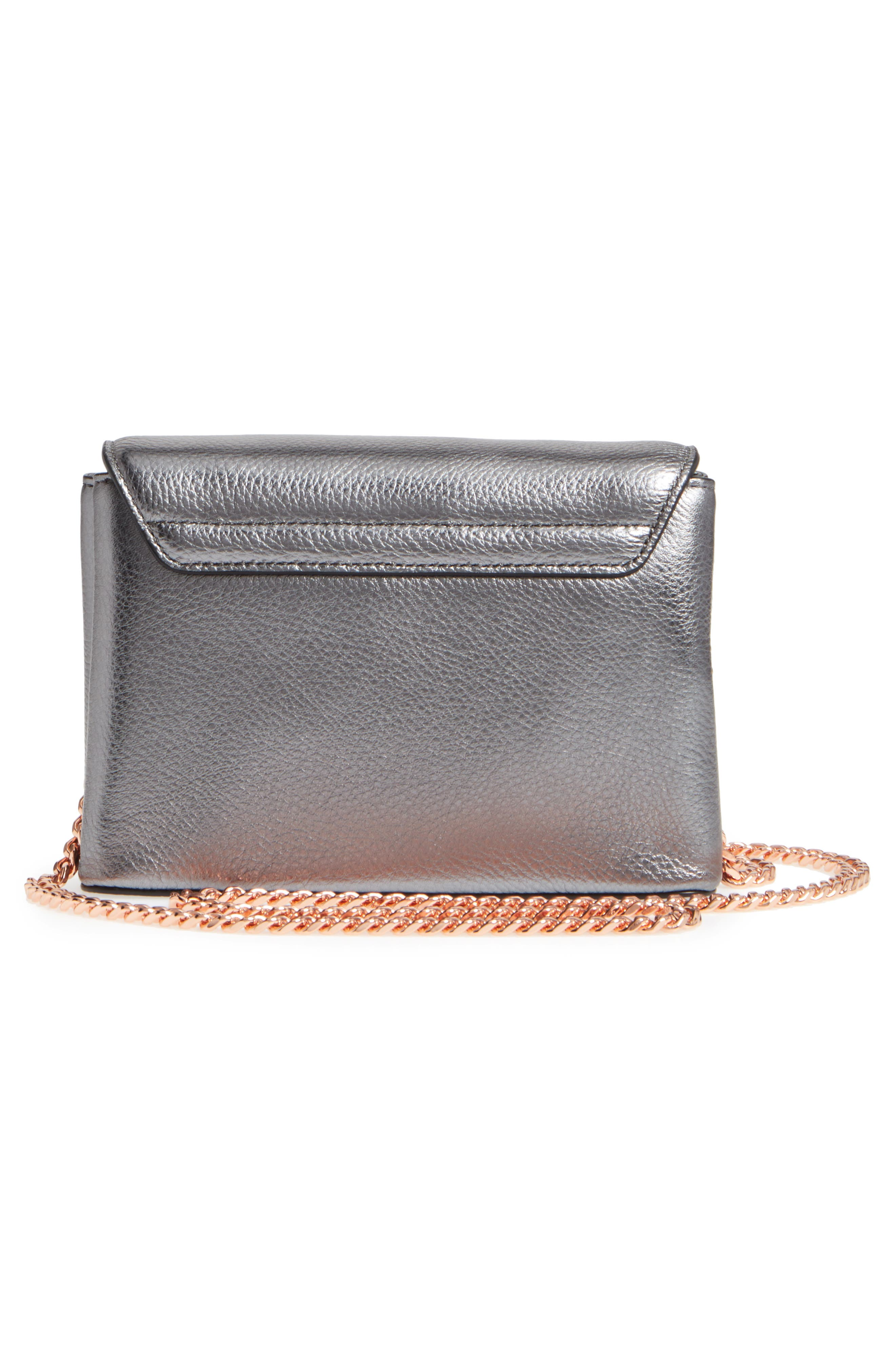 Lupiin Metallic Leather Crossbody Bag,                             Alternate thumbnail 3, color,                             022