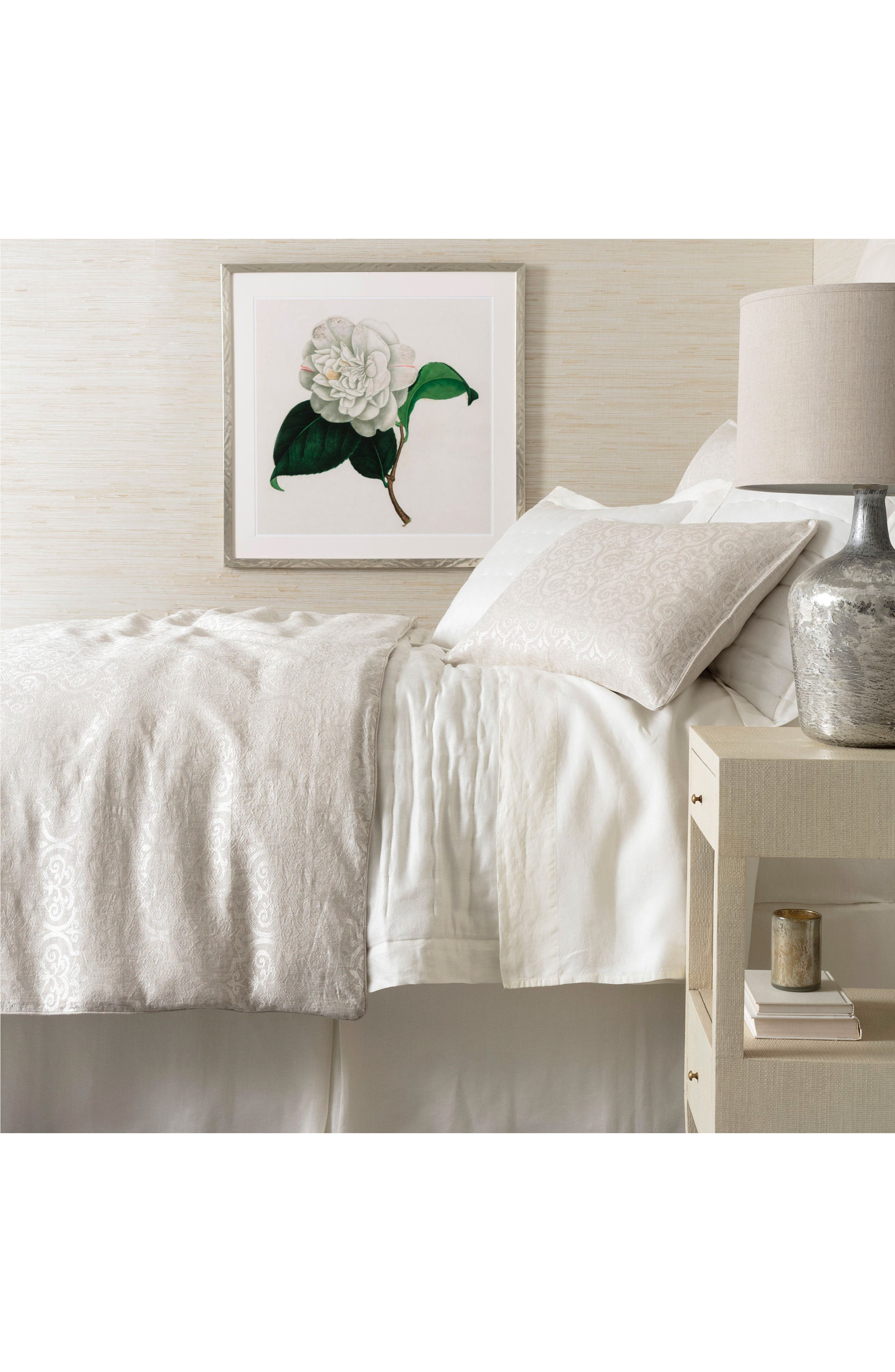 Gwendolyn Embroidered Duvet Cover,                             Main thumbnail 1, color,                             IVORY